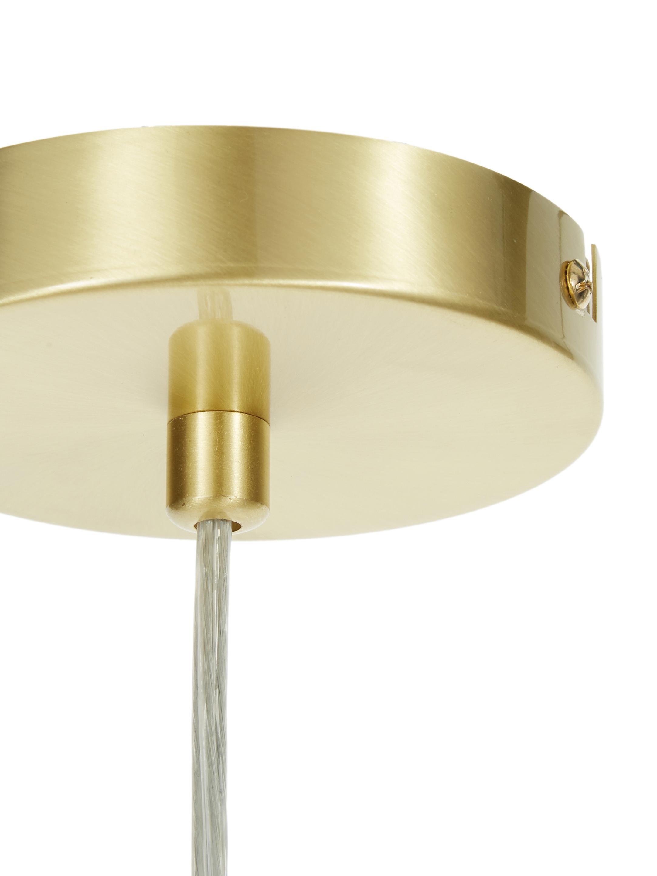 Hanglamp Sticks, Baldakijn: geborsteld metaal, Vermessingd, B 60 cm