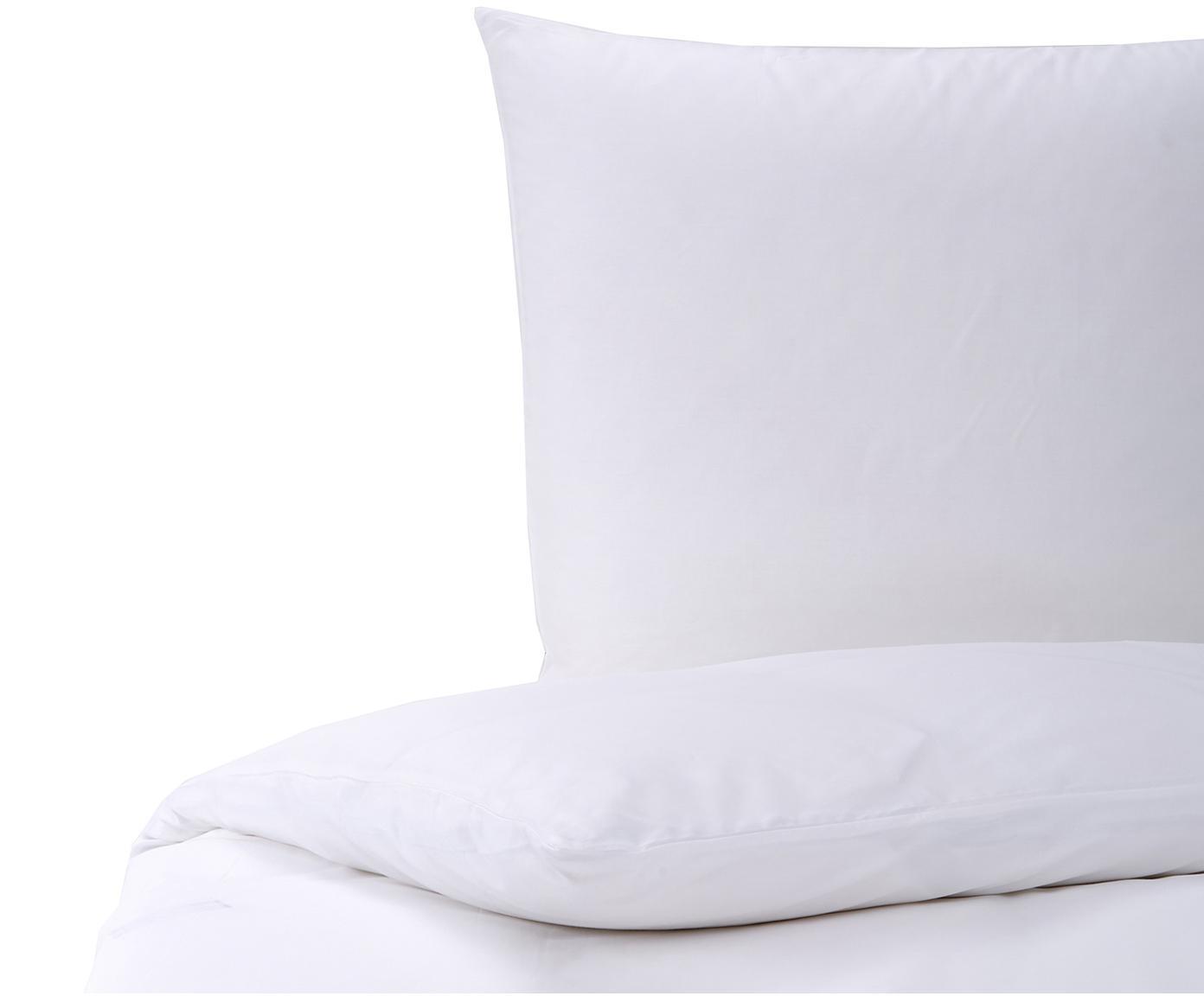 Mako-Satin Bettwäsche Marco in Weiß, Webart: Mako-Satin Mako-Satin wir, Weiß, 135 x 200 cm + 1 Kissen 80 x 80 cm
