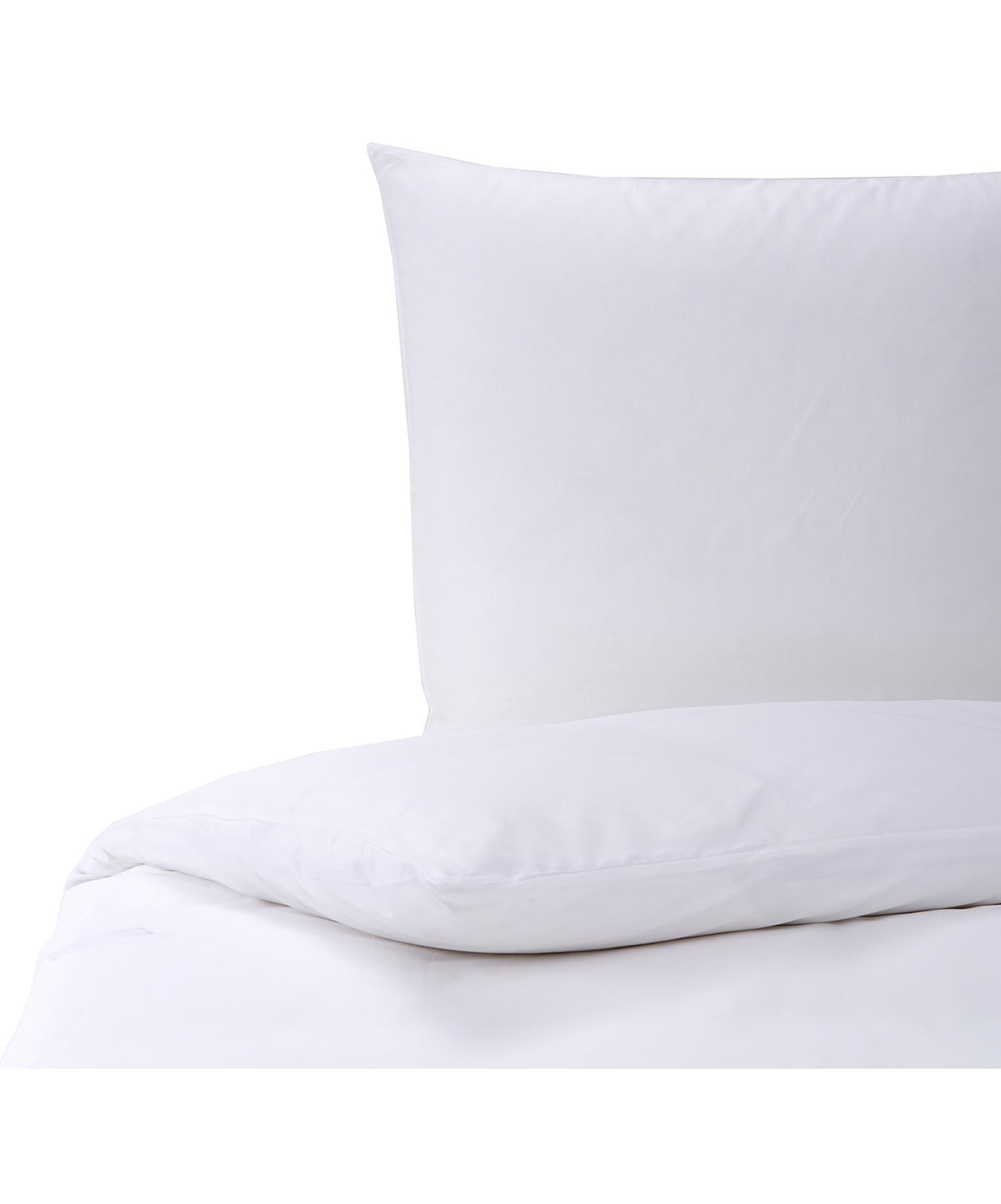 Mako-Satin Bettwäsche Marco in Weiß, Webart: Mako-Satin Fadendichte 21, Weiß, 135 x 200 cm + 1 Kissen 80 x 80 cm