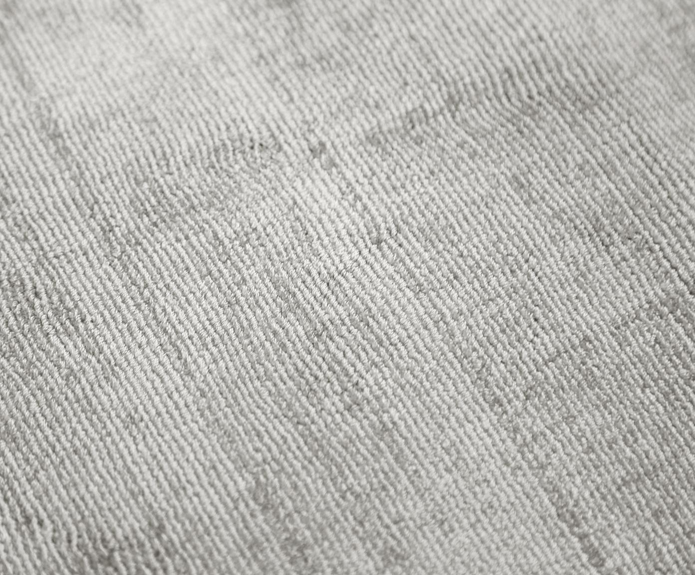 Okrągły ręcznie tkany dywan z wiskozy Jane, Jasny szarobeżowy, Ø 120 cm (Rozmiar S)