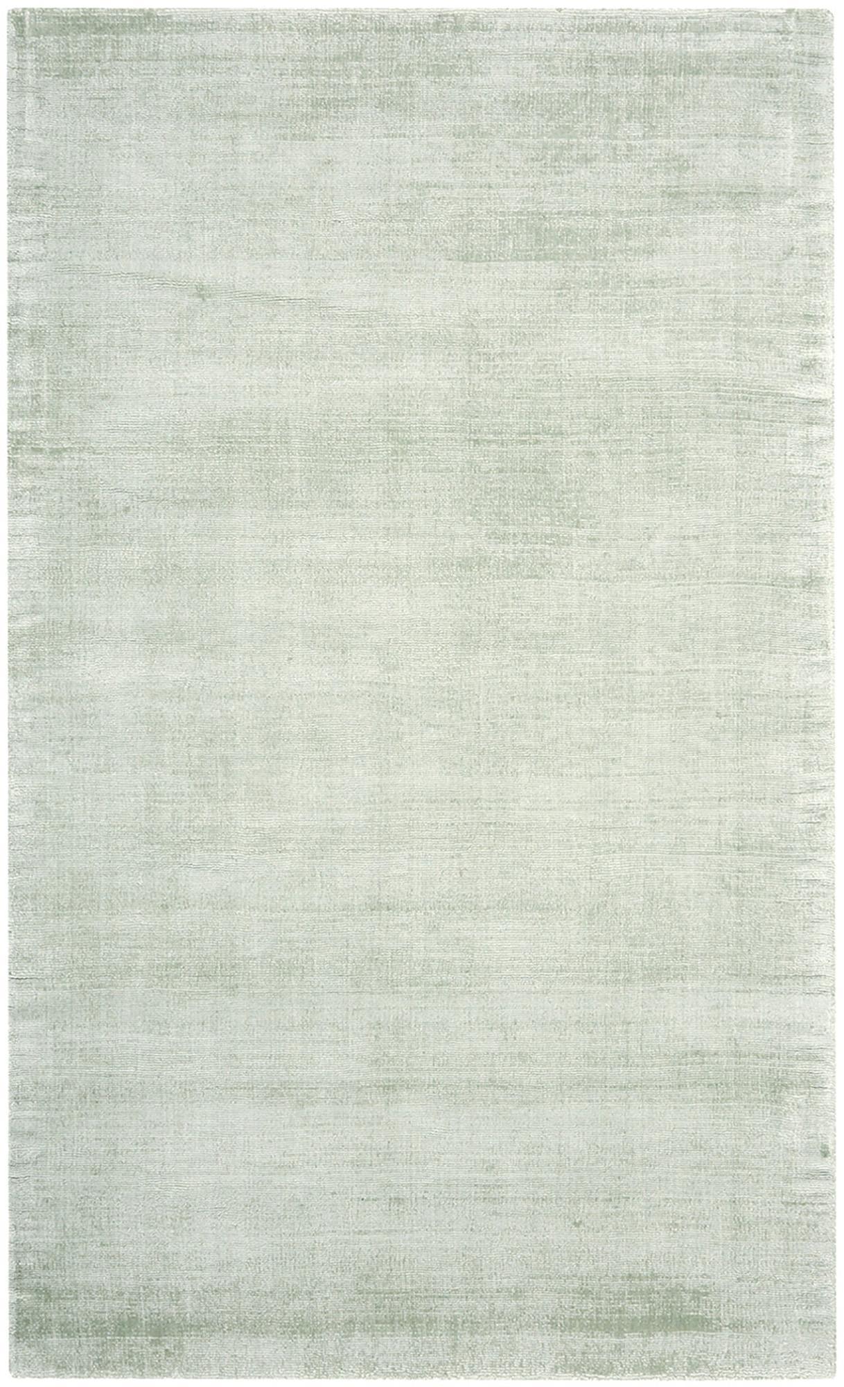 Tappeto in viscosa tessuto a mano Jane, Retro: 100% cotone, Verde menta, Larg. 90 x Lung. 150 cm (taglia XS)