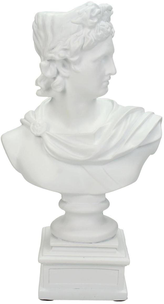 Kerzenhalter Lady, Polyresin, Weiß, 15 x 24 cm