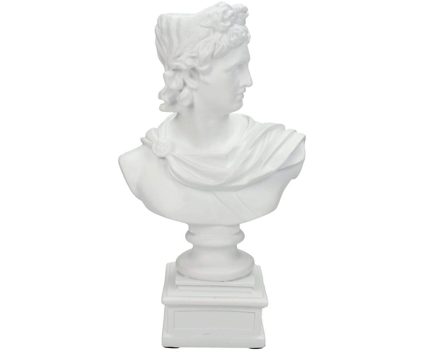 Candelabro Lady, Poliresina, Bianco, Larg. 15 x Alt. 24 cm