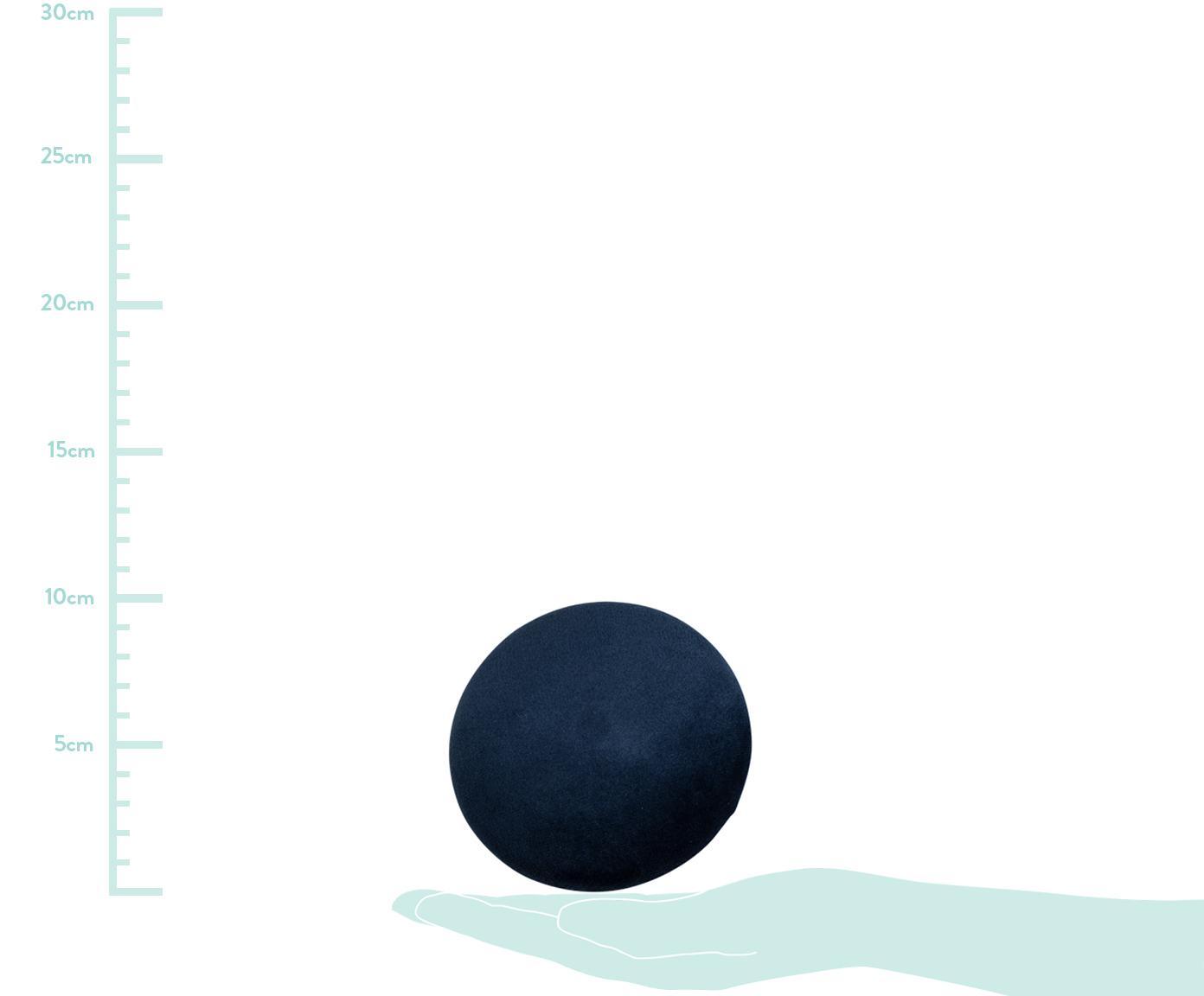 Samt-Haken-Set Giza, 3-tlg., Front: Samt, Dunkelblau, Messingfarben, Sondergrößen