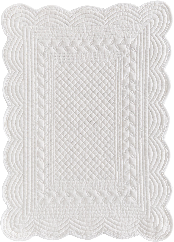 Tovaglietta americana Boutis 6 pz, Cotone, Bianco, Larg. 34 x Lung. 48 cm