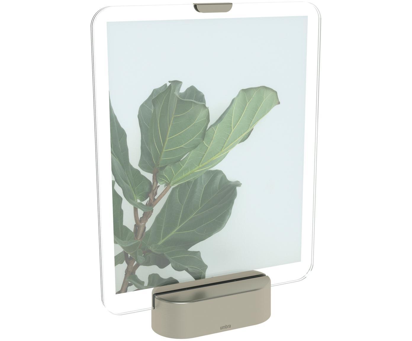 Ramka na zdjęcia LED Glo, Odcienie niklu, 20 x 25 cm