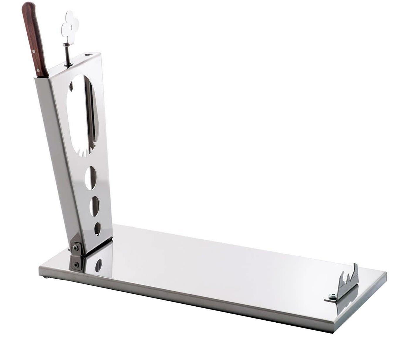 Jamonero Acero, Acero inoxidable, Gris metalizado, An 45 x H 37 cm