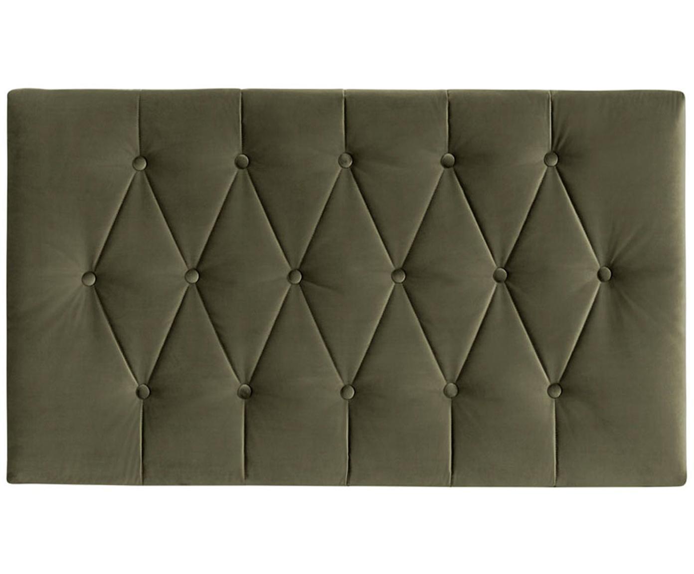 Cabecero Paris Dot, Estructura: tablero de fibras de dens, Tapizado: 100%poliéster efecto ter, Interior: guata doble 500g (100%p, Verde bosque, An 135 x Al 80 cm