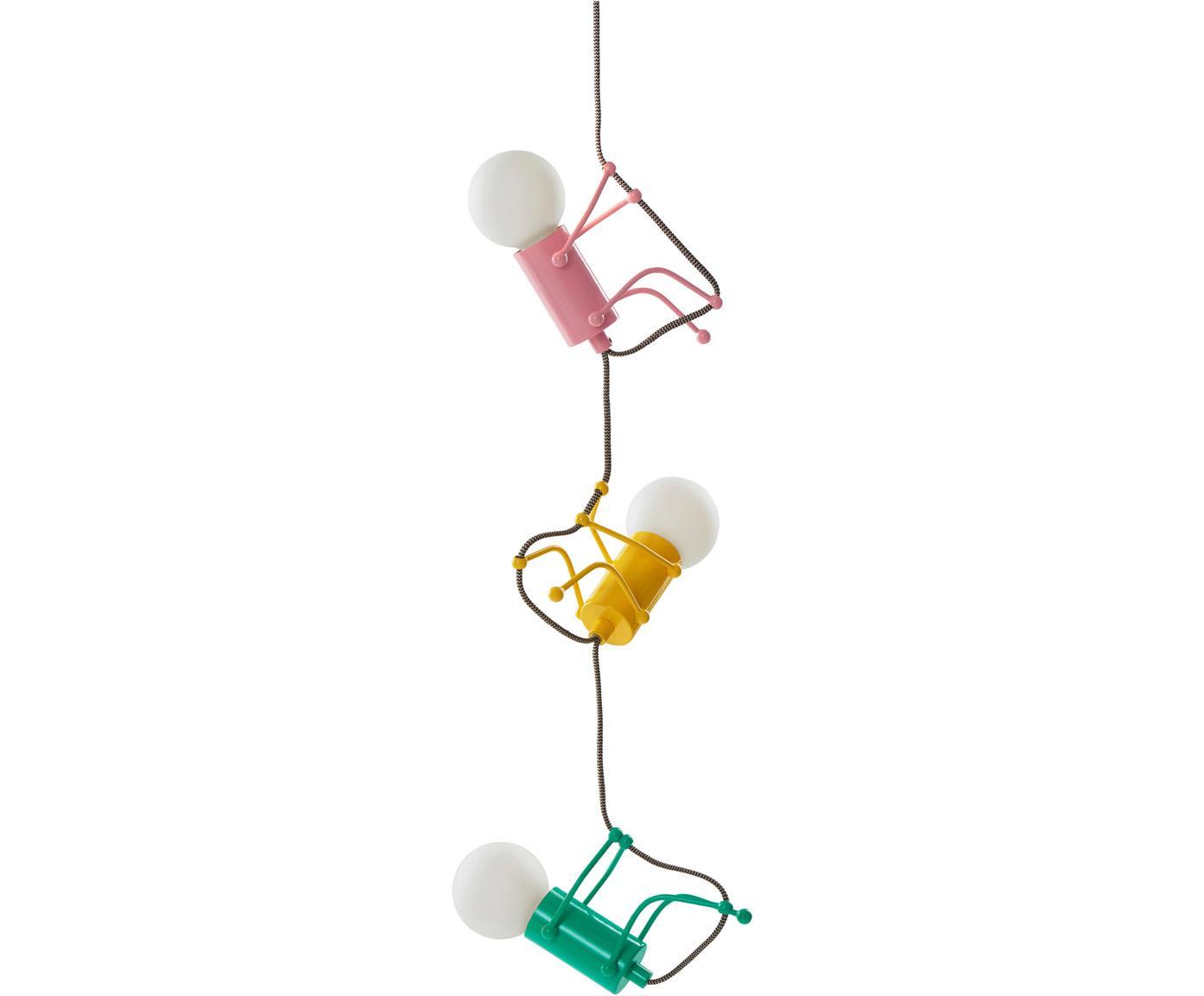 Pendelleuchte Chicos, Gelb, Grün, Rosa, Ø 18 x H 17 cm