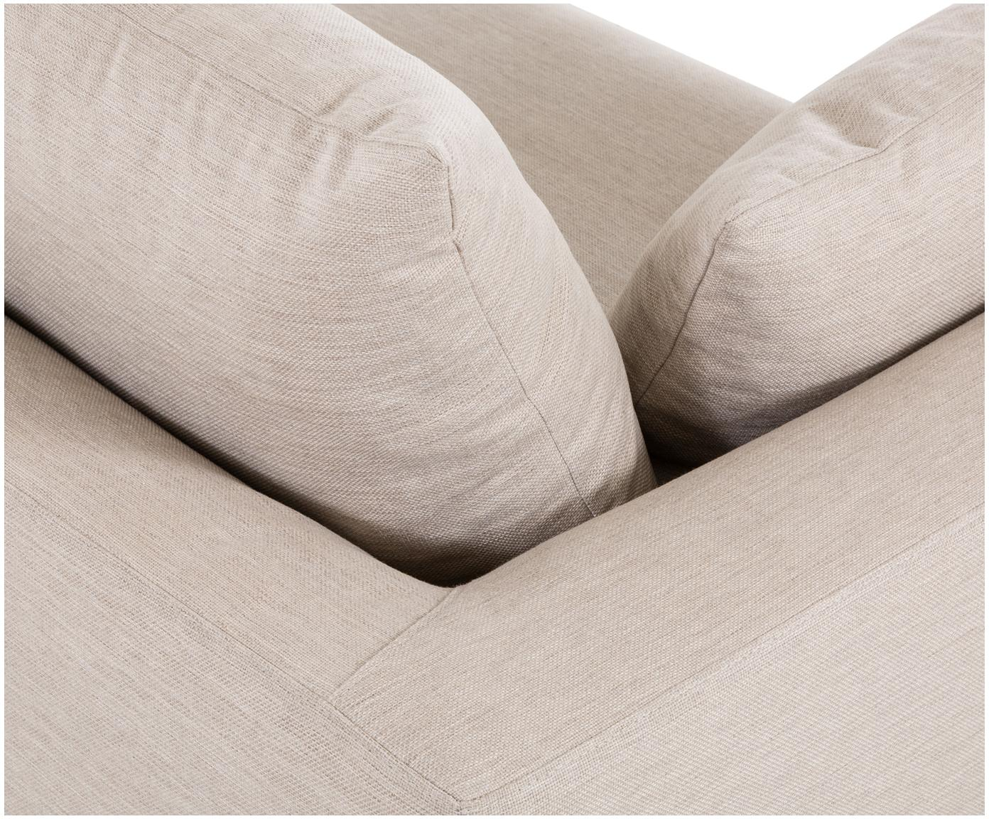 Sofa Zach (2-osobowa), Tapicerka: 100% polipropylen, Beżowy, S 191 x G 90 cm