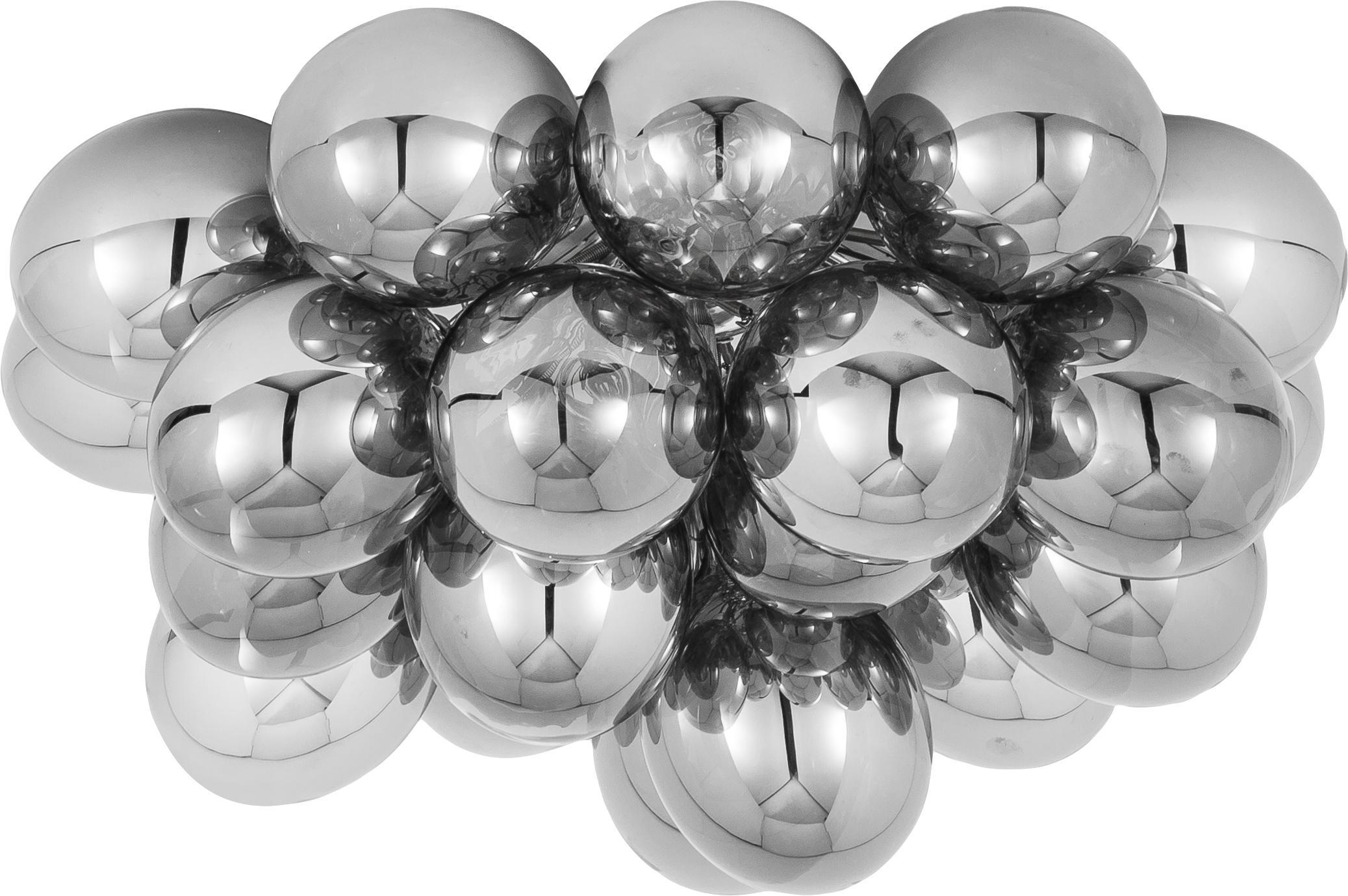 Plafoniera con sfere di vetro Gross, Cromo, Ø 50 x Alt. 27 cm