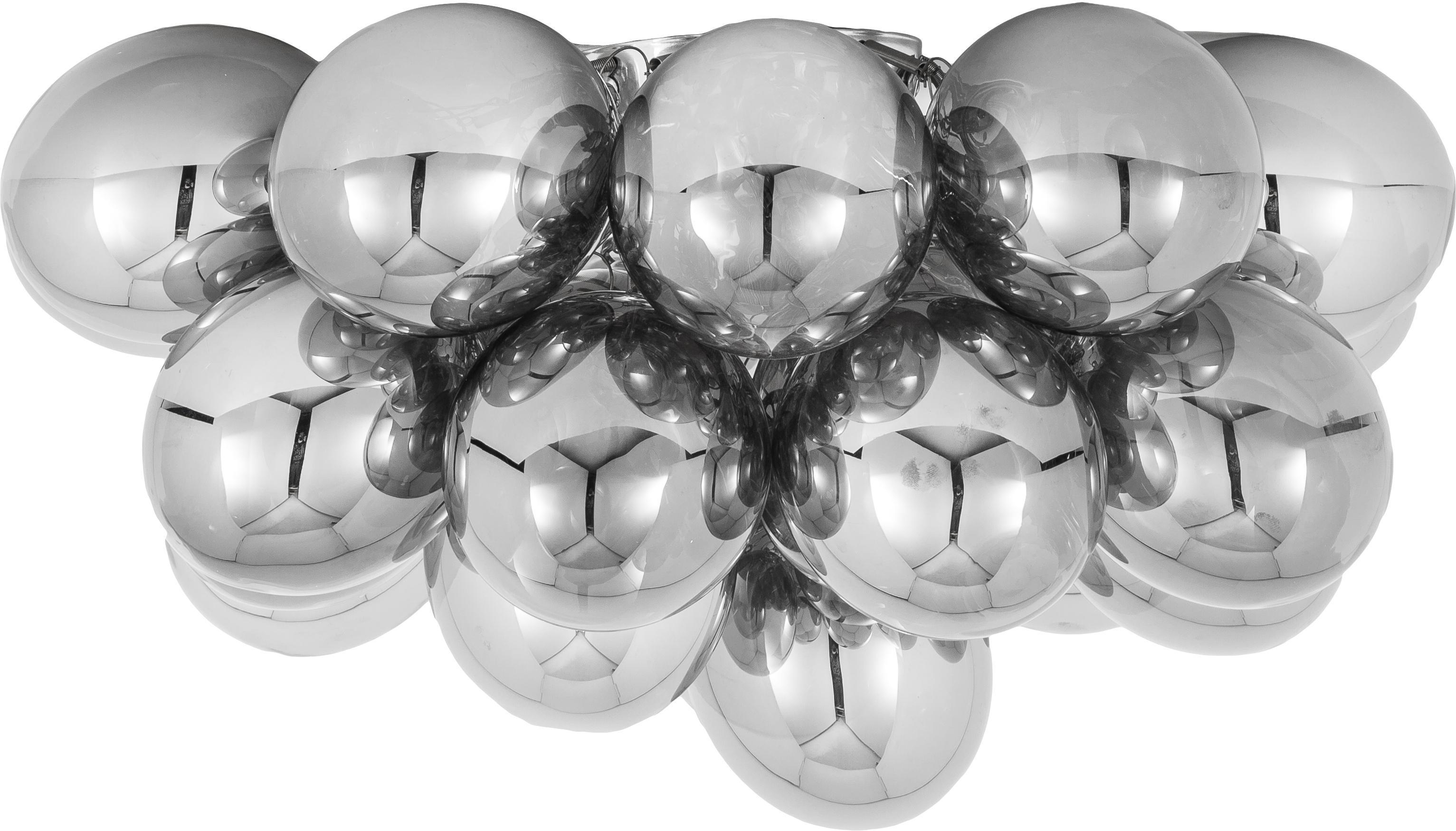 Glaskugel-Deckenleuchte Gross, Chrom, Ø 50 x H 27 cm