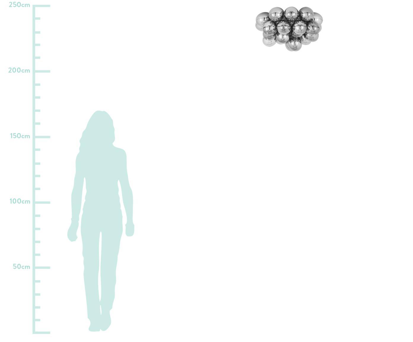 Plafondlamp Gross met glazen bollen, Chroomkleurig, Ø 50 x H 27 cm
