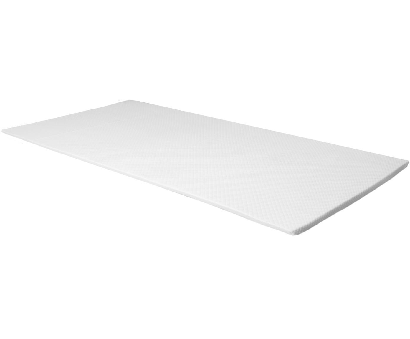 Viscoelastische Memory-Foam Matratzenauflage Premium, Bezug: 60% Polyester, 40% Viskos, Weiß, 90 x 200 cm