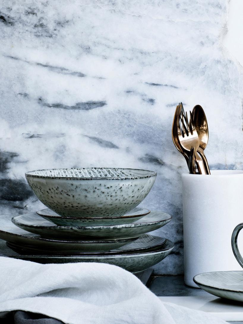 Service à petit-déjeuner Nordic Sand, 4 personnes (12élém.), Gris, beige