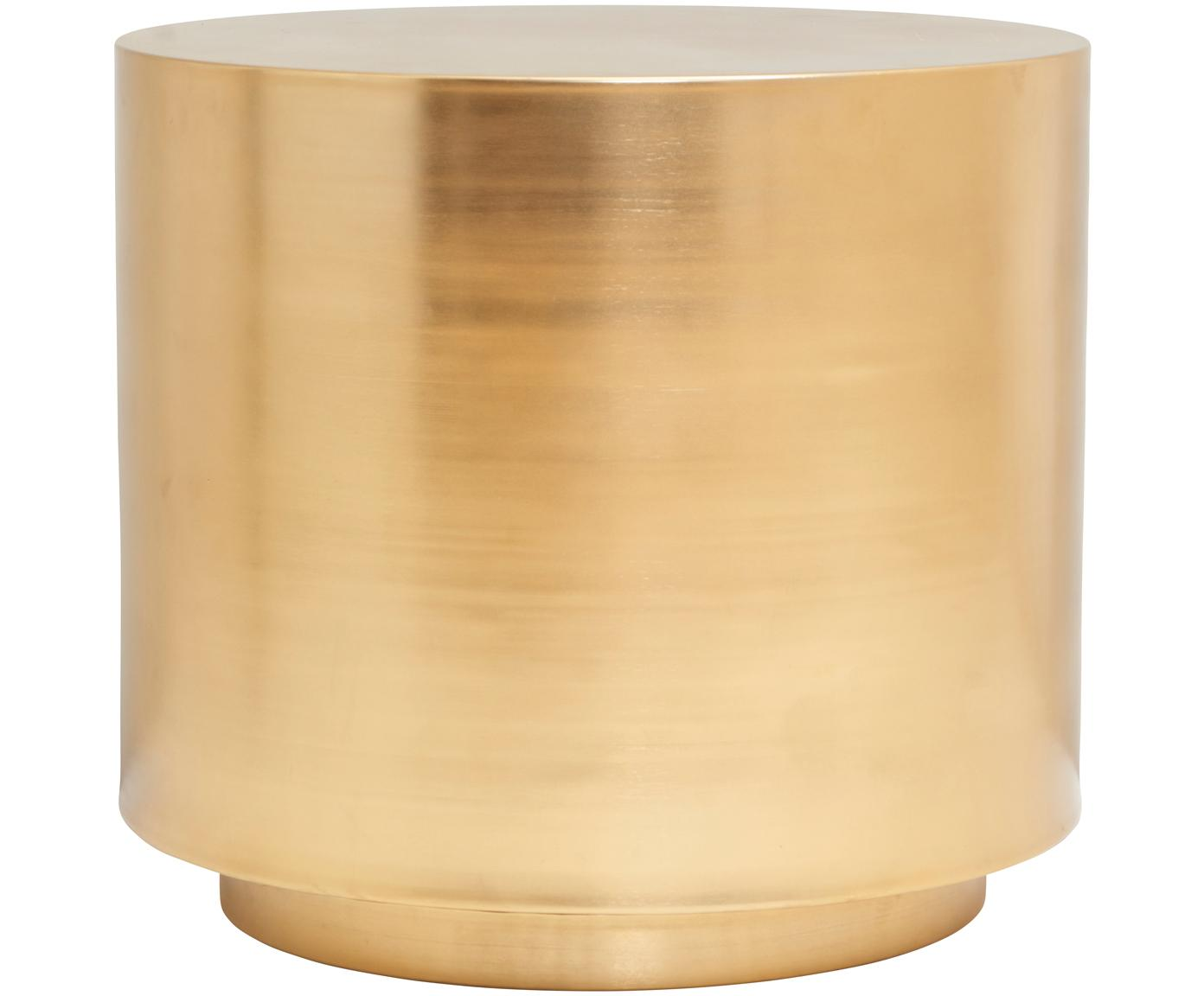 Beistelltisch Step aus Messing, Metall, gebürstet, Messing, Ø 50 x H 46 cm