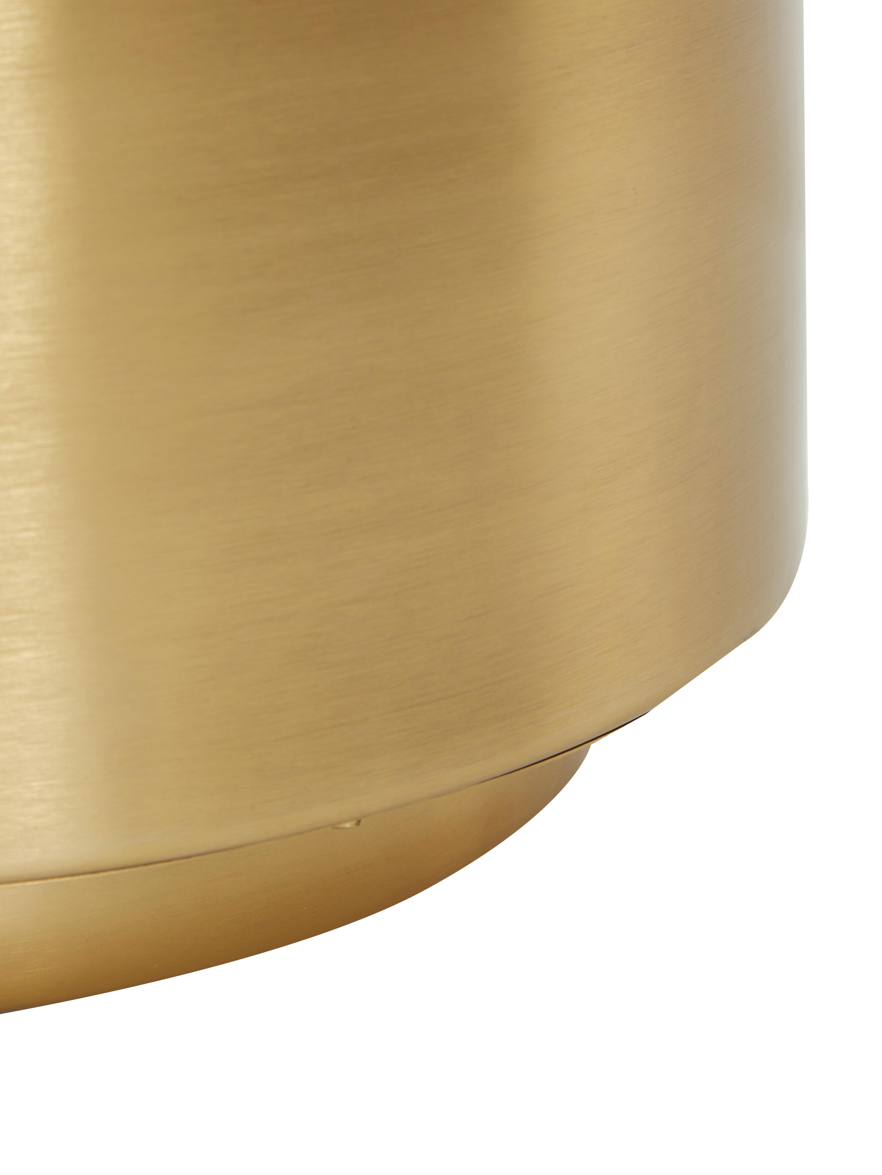 Tavolino rotondo in ottone Step, Metallo, spazzolato, Ottone, Ø 50 x Alt. 46 cm
