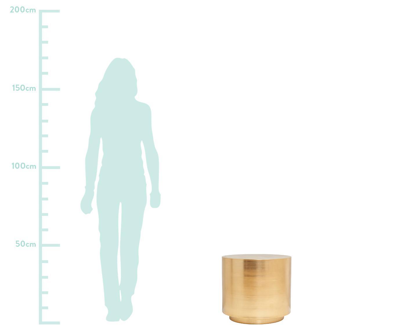 Stolik pomocniczy z mosiądzu Step, Metal szczotkowany, Mosiądz, Ø 50 x W 46 cm