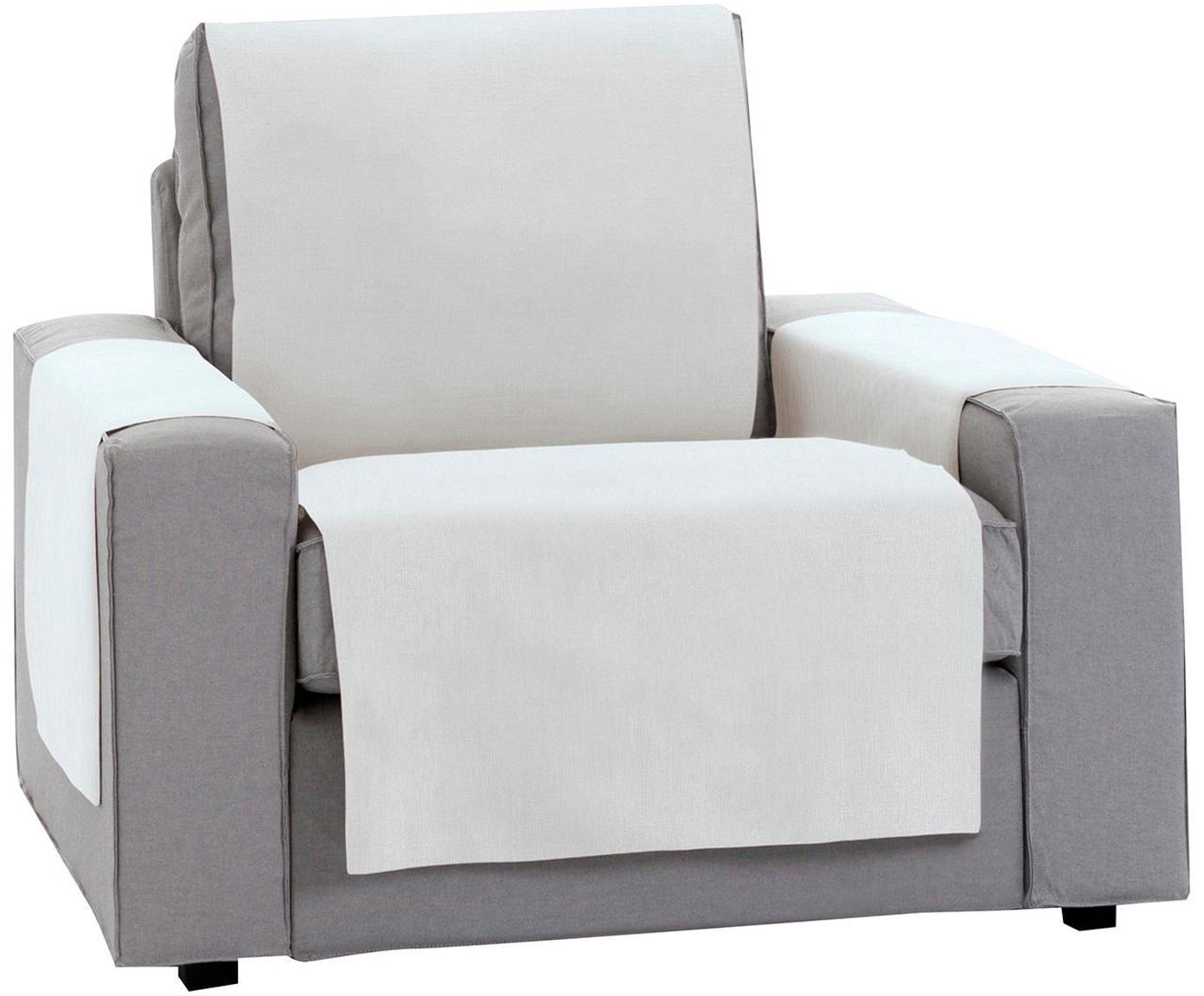 Funda de sillón Levante, 50%algodón, 50%poliéster, Blanco, An 55 x L 220 cm