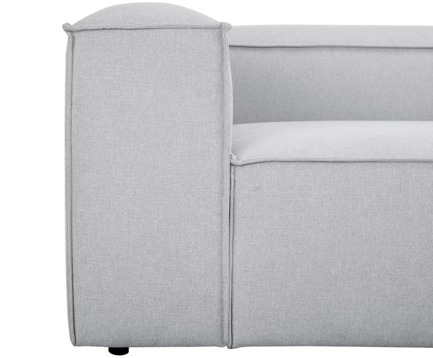Sofa modułowa Lennon (4-osobowa), Tapicerka: poliester 35 000 cykli w , Stelaż: lite drewno sosnowe, skle, Nogi: tworzywo sztuczne, Jasny szary, S 326 x G 119 cm
