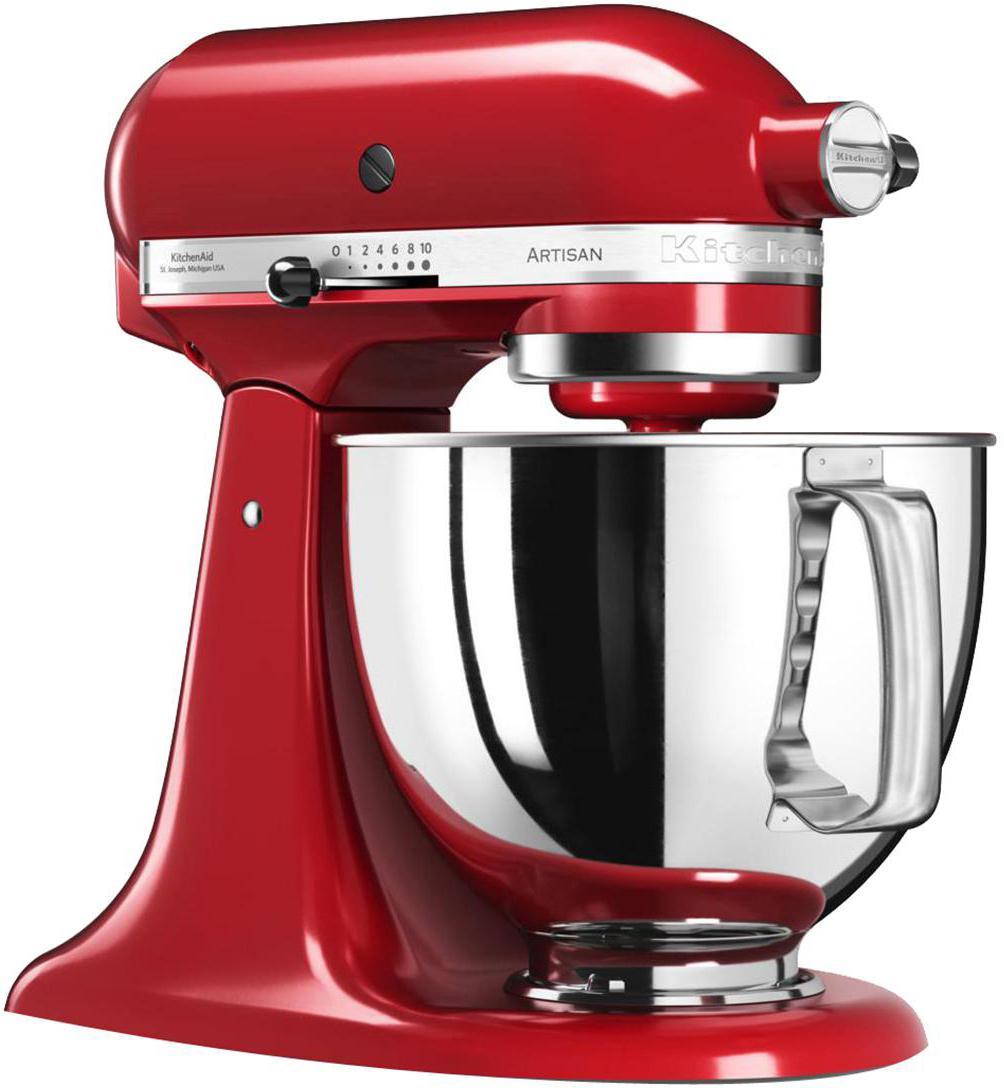 Küchenmaschine Artisan, Gehäuse: Zinkdruckguss., Schüssel: Edelstahl., Rot, B 37 x T 24 cm