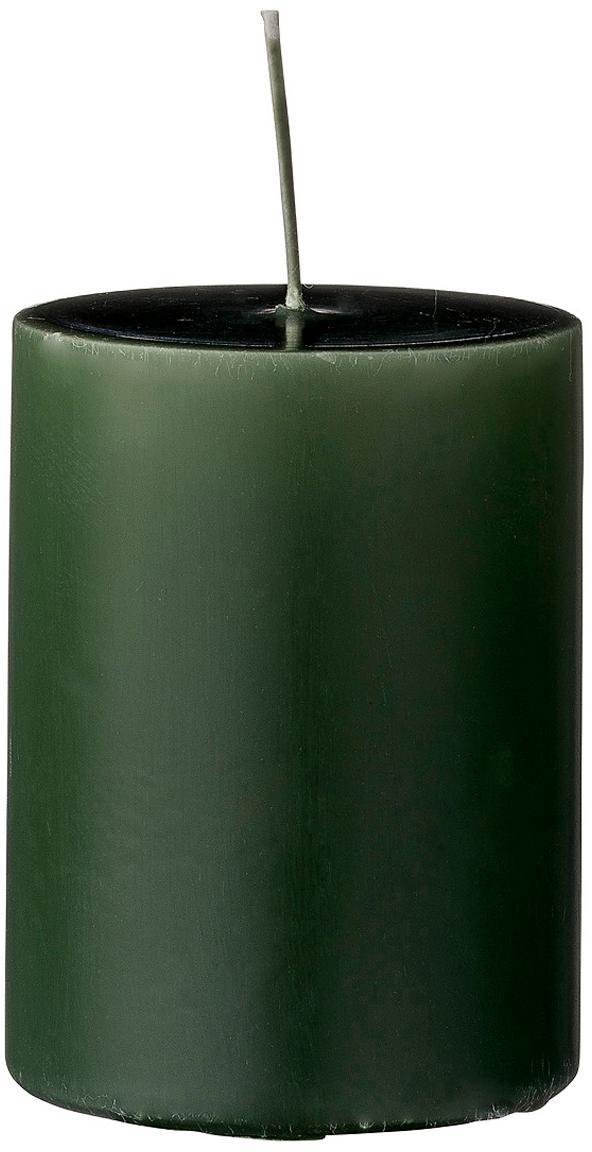 Candela pilastro Lulu 4 pz, Cera, Verde bosco, Ø 7 x Alt. 10 cm