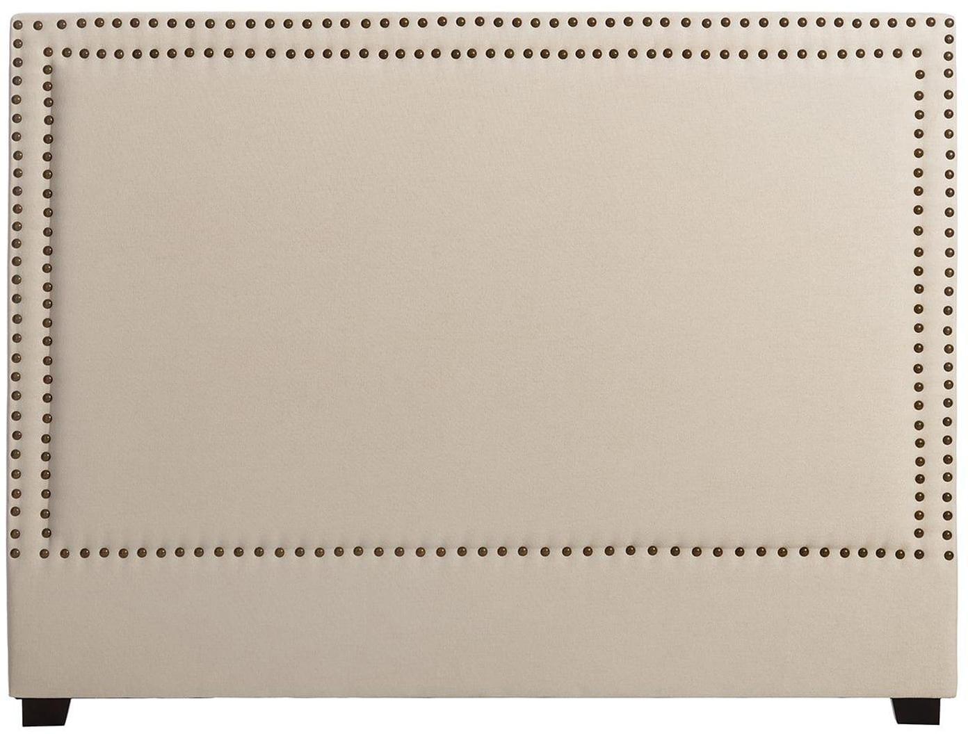 Cabecero Sally, Tapizado: 100%poliéster, Estructura: madera de abedul, eucalip, Crema, An 160 x Al 120 cm