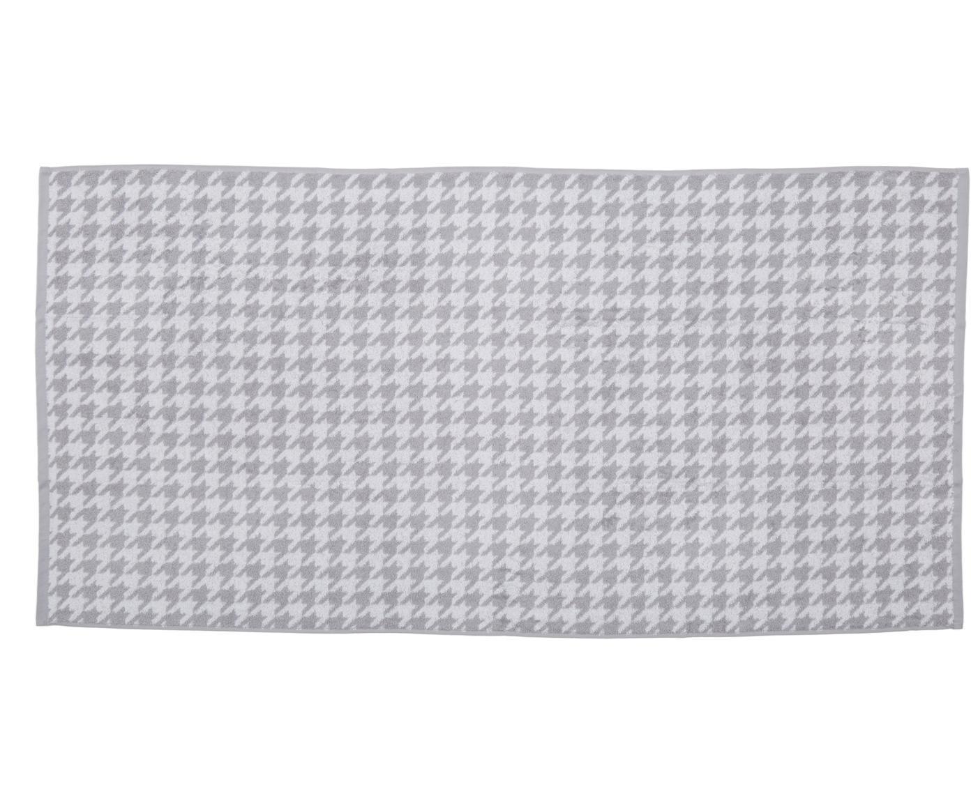 Telo bagno Shapes, Cotone, qualità media 500g/m², Grigio argento, bianco, Larg. 70 x Lung. 140 cm