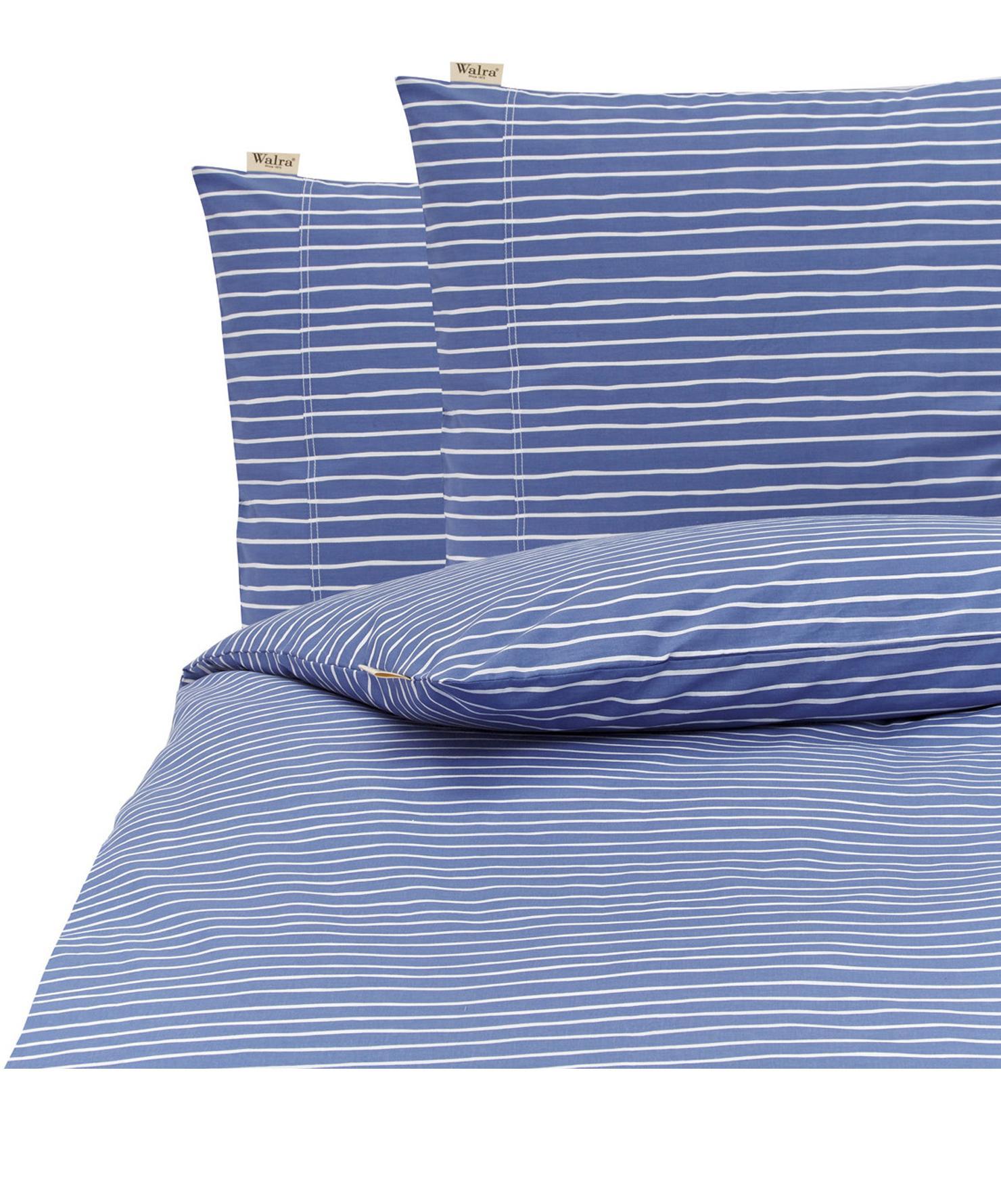 Renforcé dekbedovertrek No way out, Weeftechniek: renforcé, Blauw, wit, 240 x 220 cm