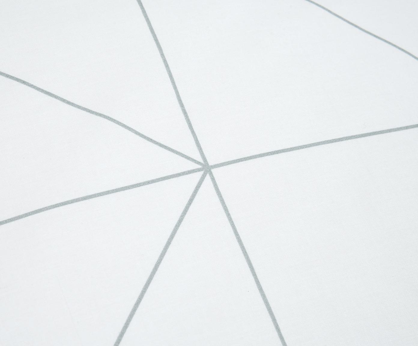 Dwustronna pościel z bawełny renforcé Marla, Szary, biały, 155 x 220 cm