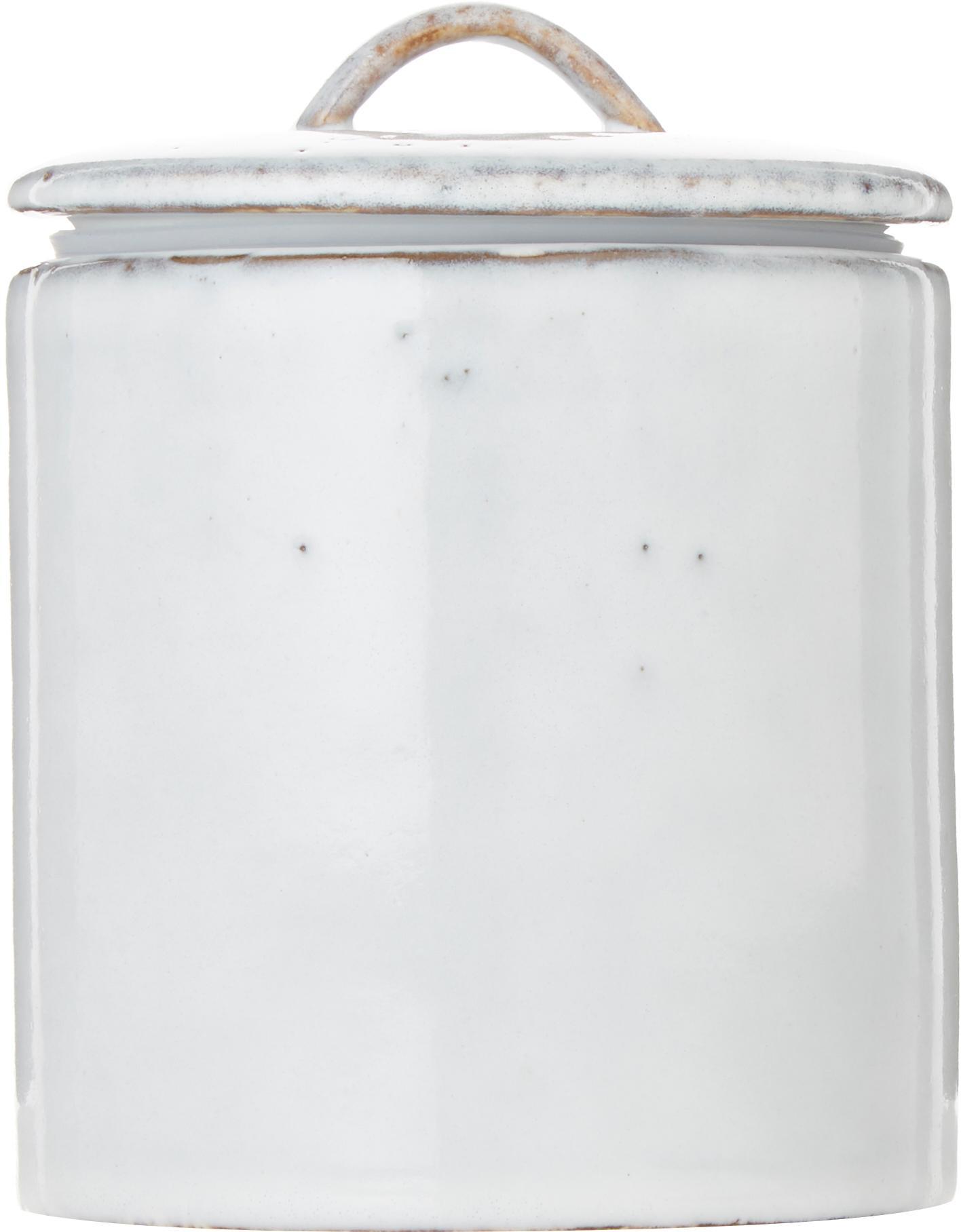 Handgemaakte opbergpot Nordic Sand, Keramiek, Zandkleurig, Ø 12 x H 12 cm