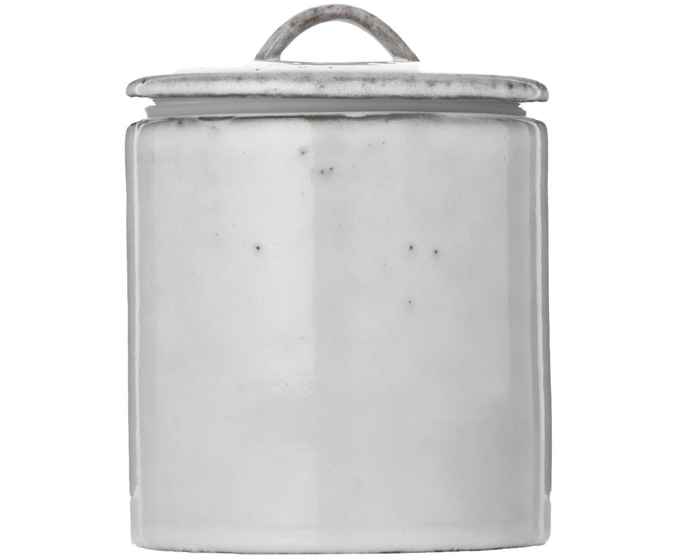 Ręcznie wykonany pojemnik do przechowywania Nordic Sand, Kamionka, Odcienie piaskowego, Ø 12 x W 12 cm