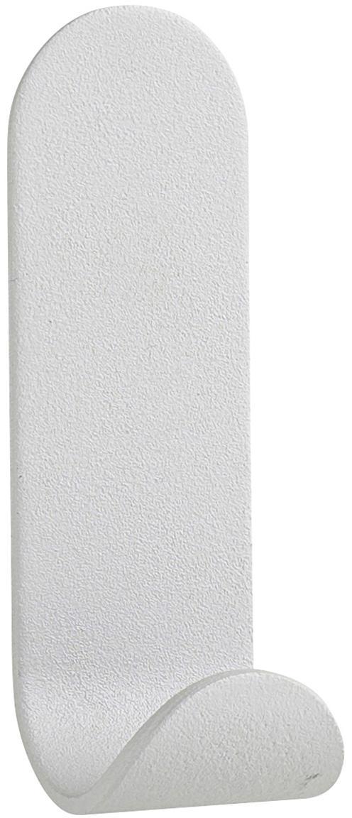 Gancio appendiabiti da parete in acciaio Aguina, Acciaio verniciato, Grigio chiaro, Larg. 3 x Alt. 8 cm