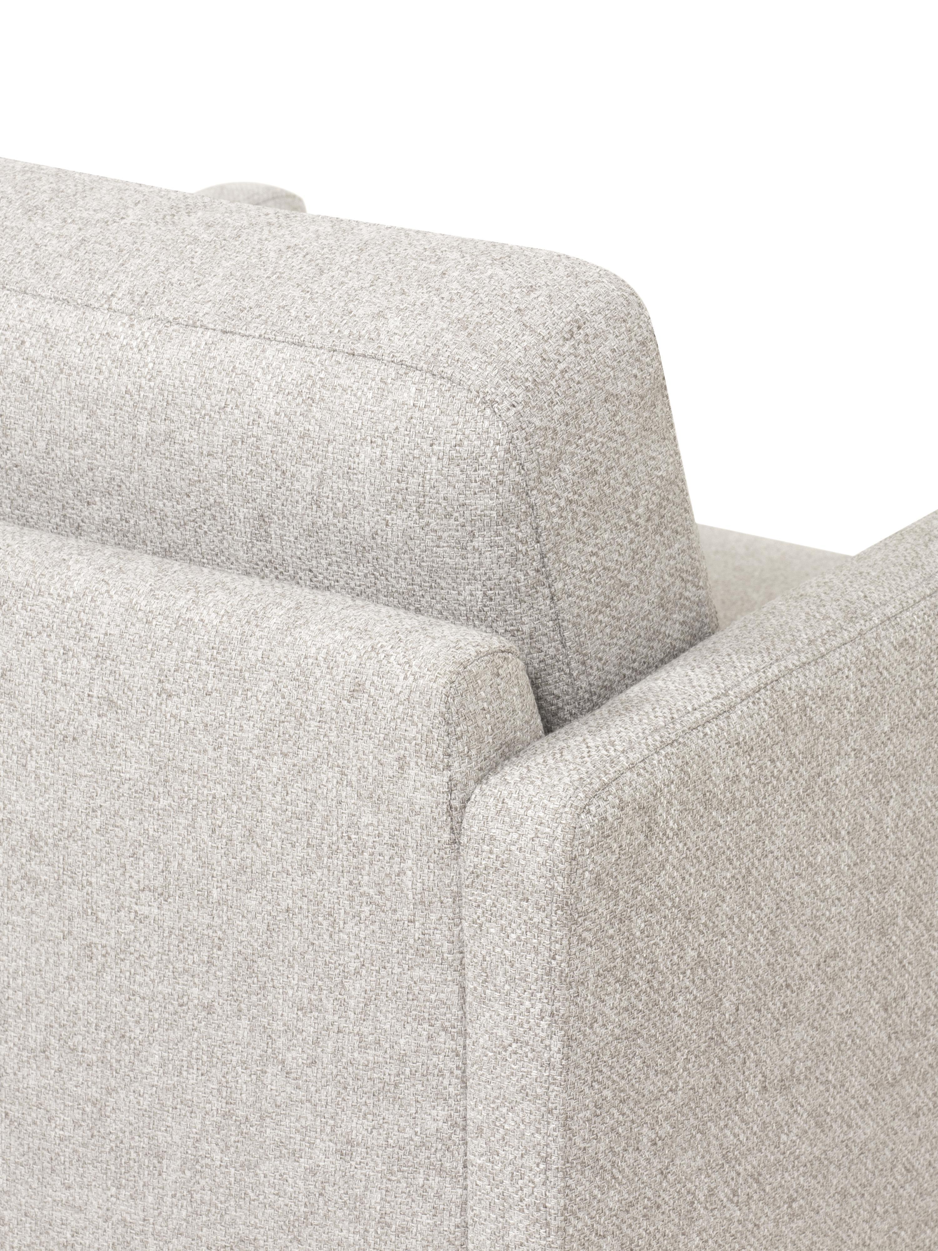 Sessel Fluente, Bezug: 80% Polyester, 20% Ramie , Gestell: Massives Kiefernholz, Füße: Metall, pulverbeschichtet, Webstoff Beige, B 74 x T 85 cm