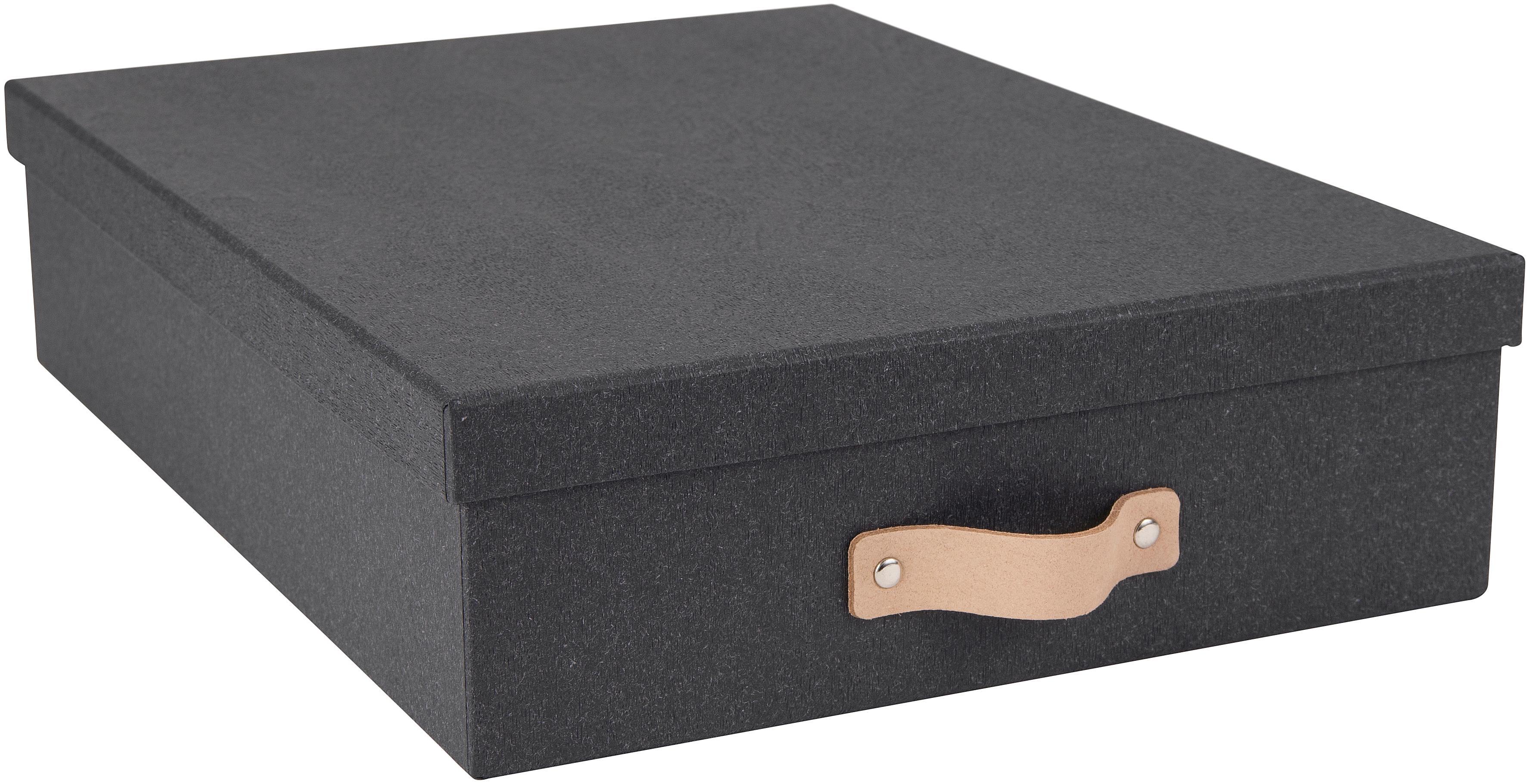 Pudełko do przechowywania Oskar II, Organizer na zewnątrz: czarny Organizer wewnątrz: czarny Uchwyt: beżowy, S 26 x W 9 cm