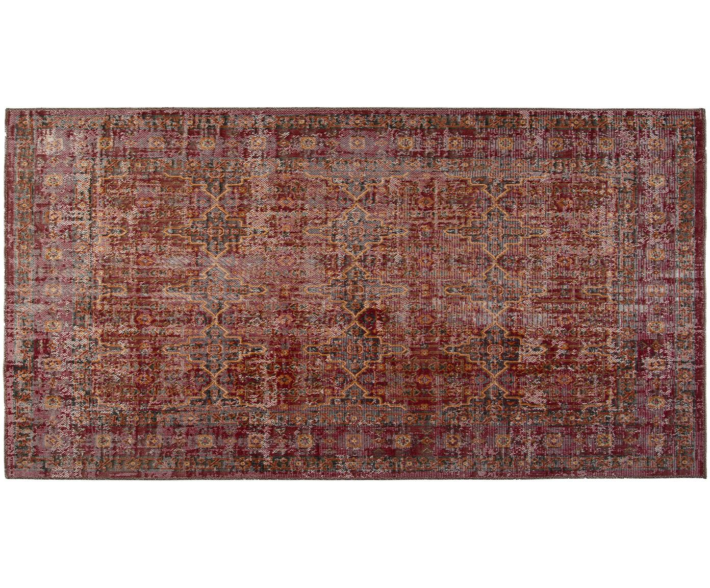 In- & Outdoor-Teppich Tilas Izmir in Dunkelrot, Orient Style, Dunkelrot, Senfgelb, Khaki, B 80 x L 150 cm (Größe XS)