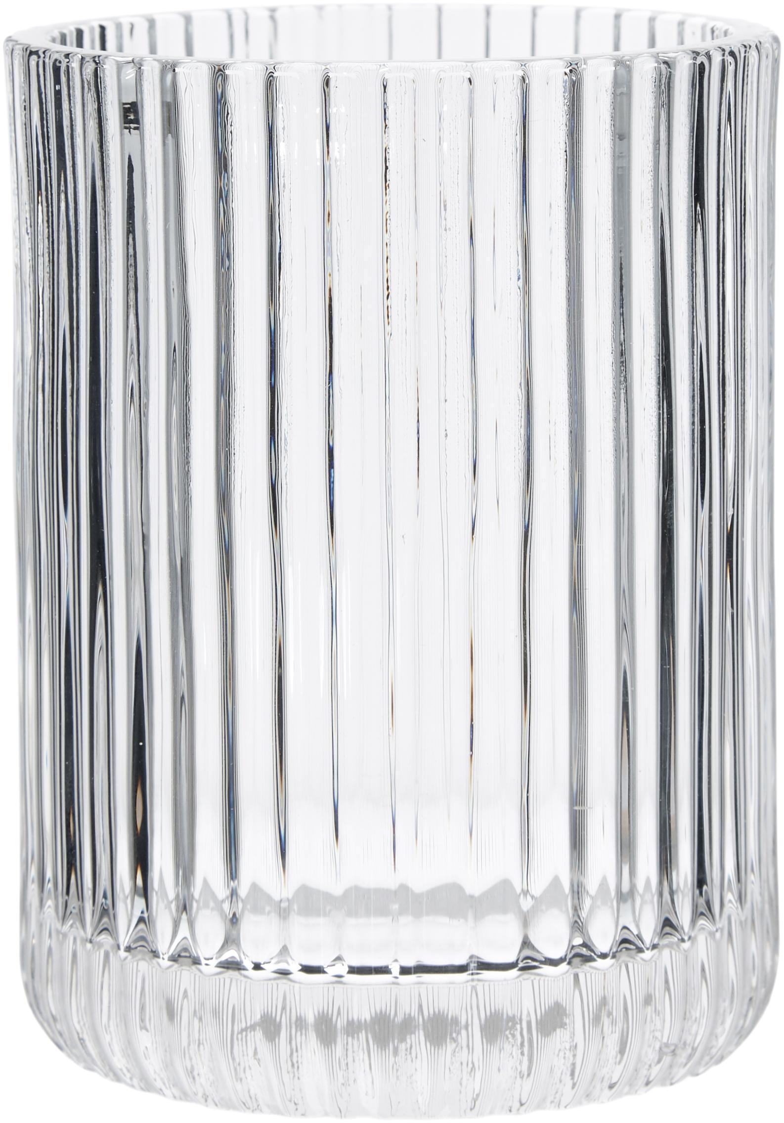 Kubek na szczoteczki ze szkła Gulji, Szkło, Transparentny, Ø 7 x W 10 cm