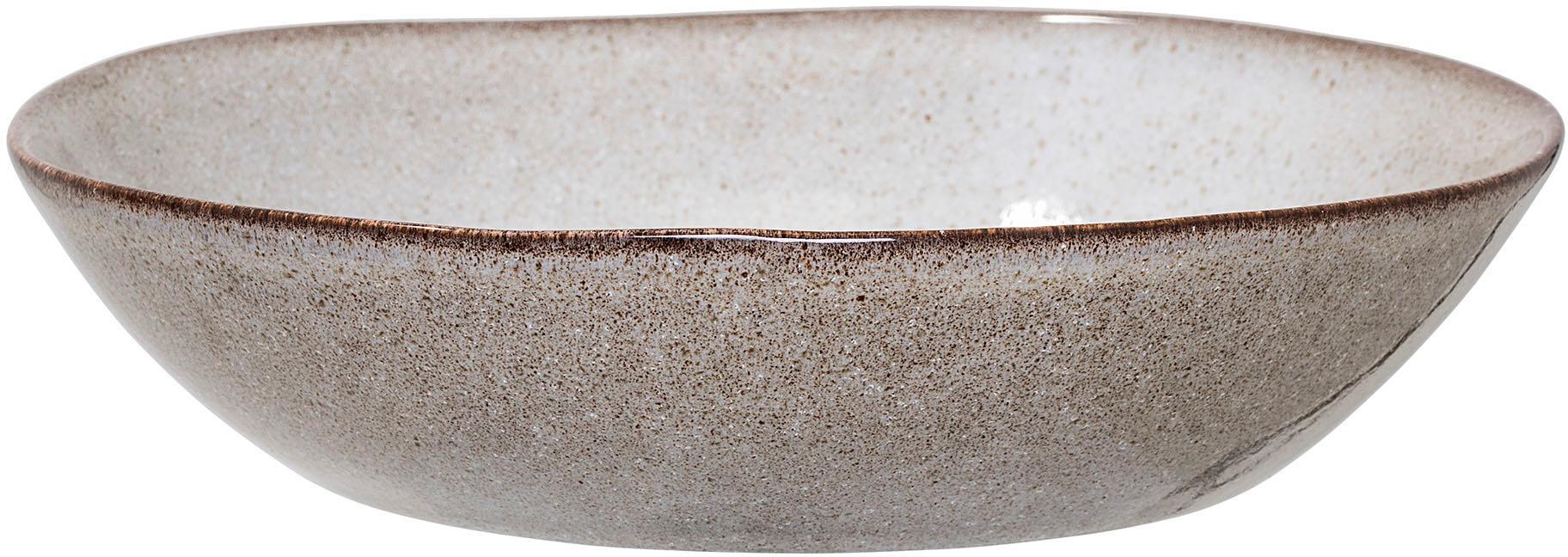 Ciotola per zuppa fatta a mano beige Sandrine, Terracotta, Tonalità beige, Ø 22 x Alt. 5 cm