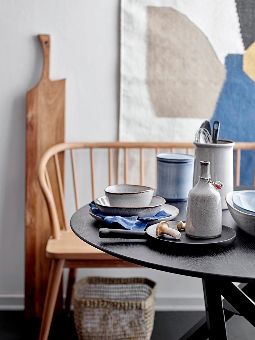 Ręcznie wykonany talerz głęboki Sandrine, Ceramika, Odcienie beżowego, Ø 22 x W 5 cm