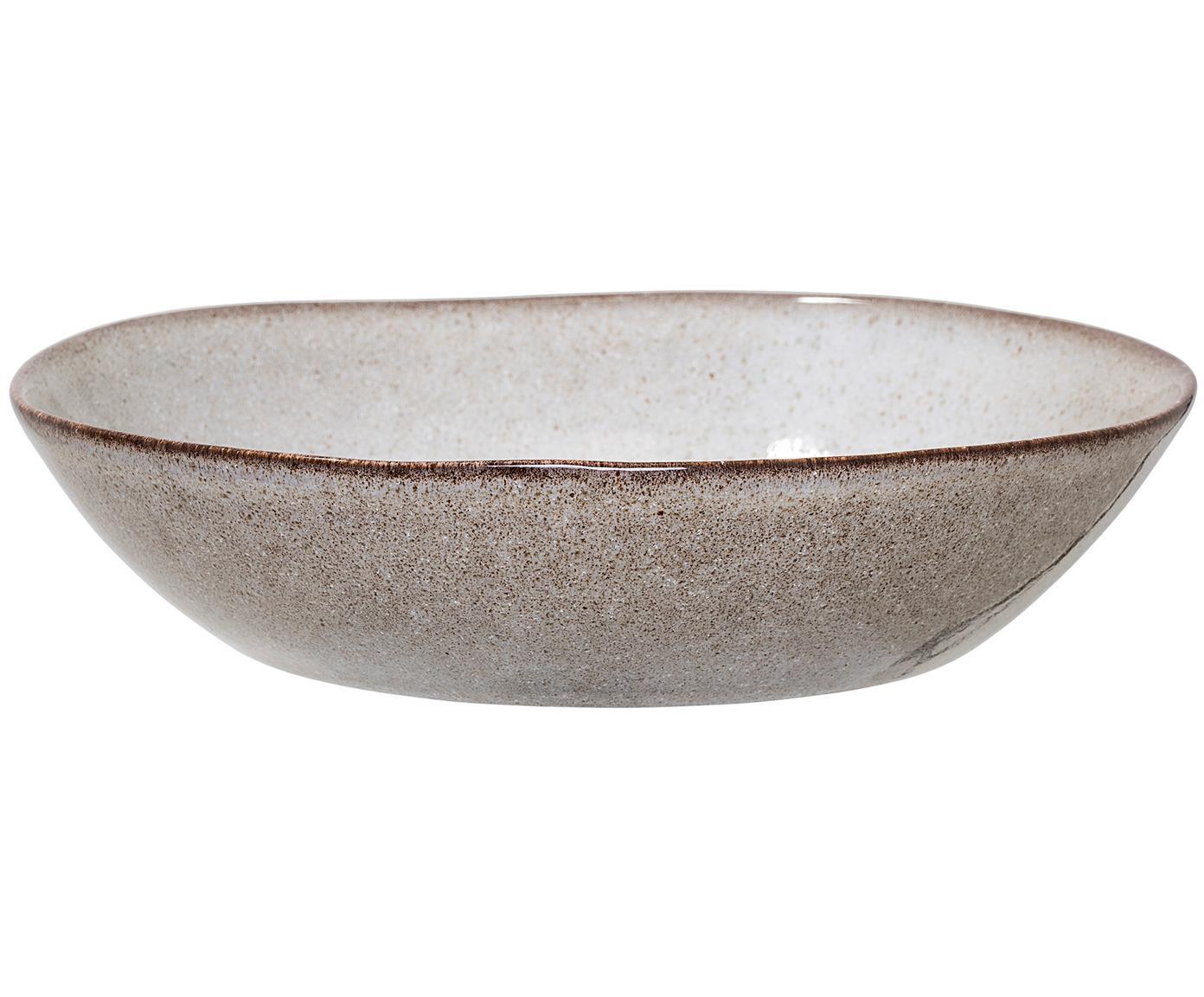 Ręcznie wykonany talerz głęboki Sandrine, Ceramika, Jasny szary, Ø 22 x W 5 cm