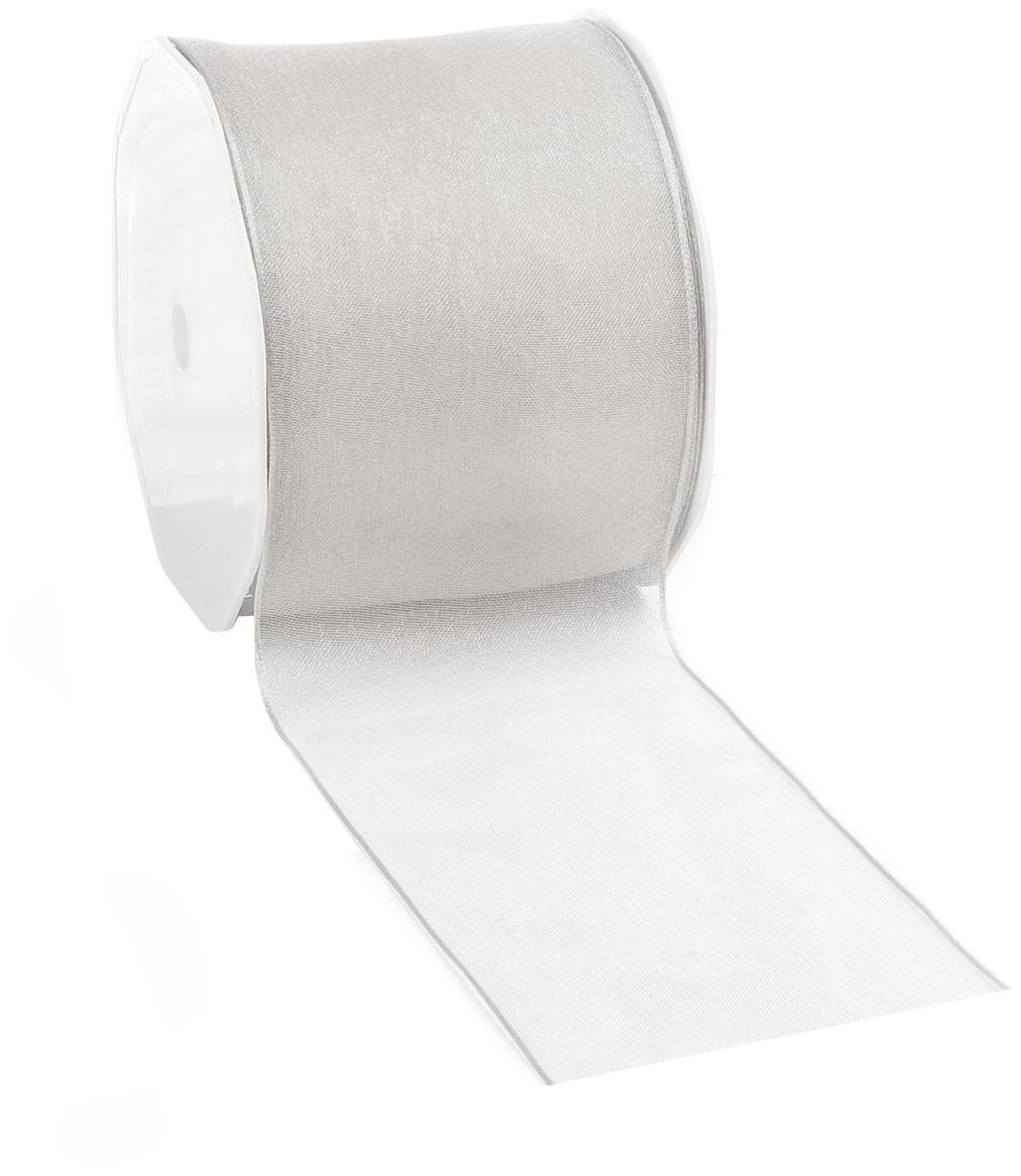 Cadeaulint Anzo, 98% nylon, 2% vernikkeld draad, Edelstaalkleurig, 7 x 2000 cm