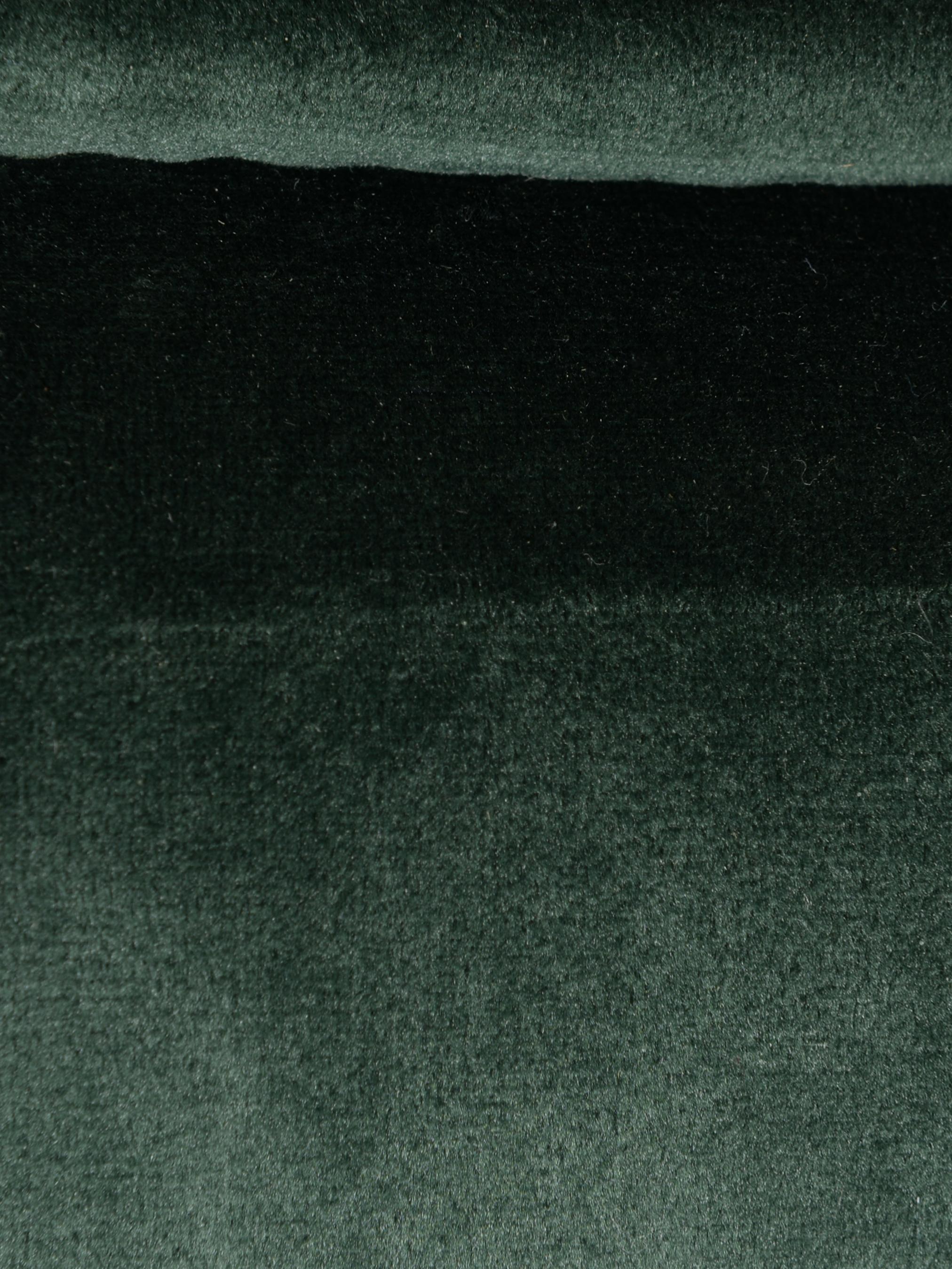 Fluwelen eetkamerbank Verona, Bekleding: polyesterfluweel, Groen, zwart, B 134 x D 55 cm