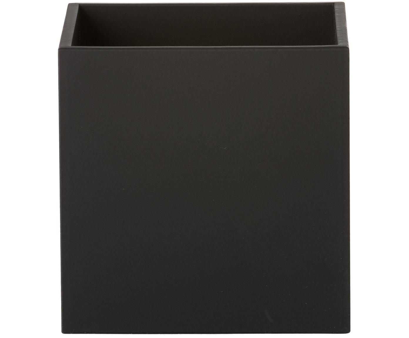 Applique Quad, Alluminio verniciato a polvere, Nero, Larg. 10 x Alt. 10 cm
