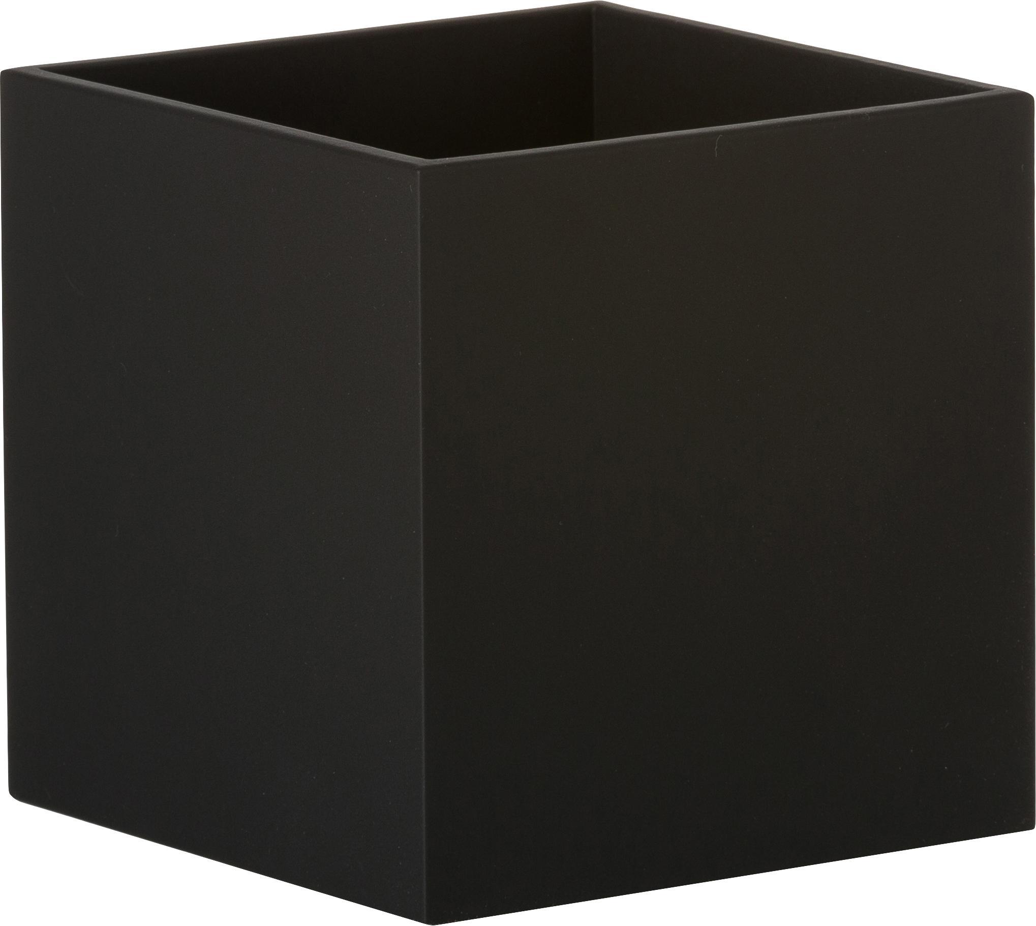 Wandlamp Quad, Gepoedercoat aluminium, Zwart, 10 x 10 cm