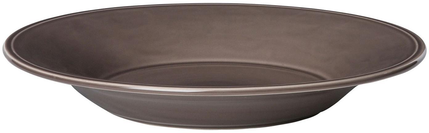 Platos de pasta Constance, 2uds., estilo rústico, Cerámica, Marrón, Ø 27 cm