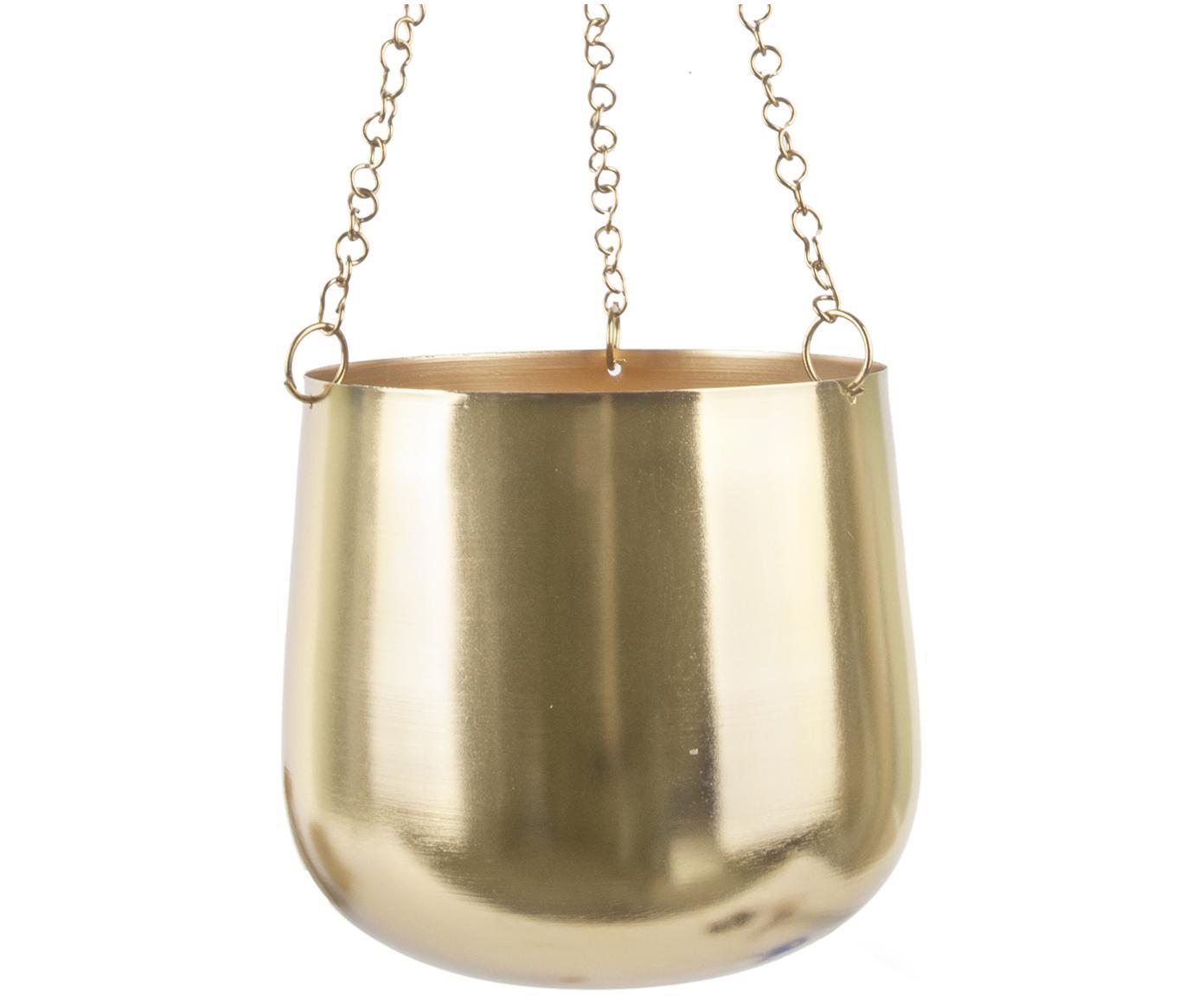 Komplet donic wiszących Cask, 3 elem., Metal lakierowany, Odcienie złotego, Różne rozmiary