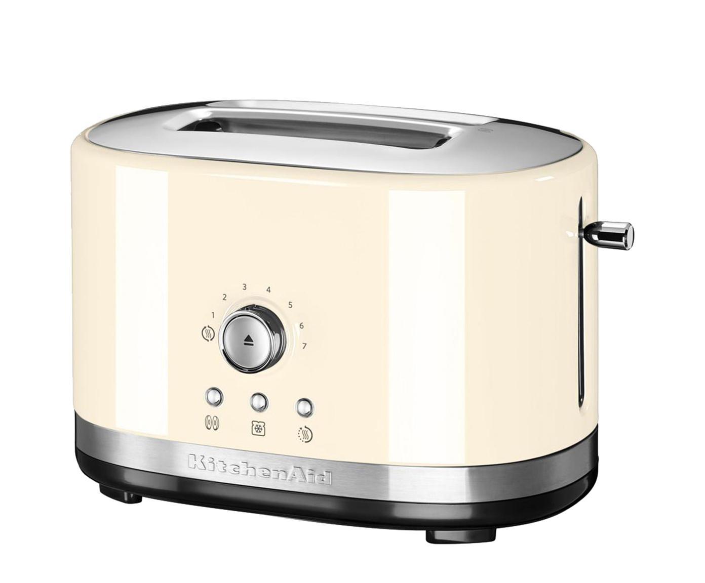Toaster KitchenAid, Gehäuse: Aluminiumdruckguss, Edels, Cremefarben, 31 x 20 cm