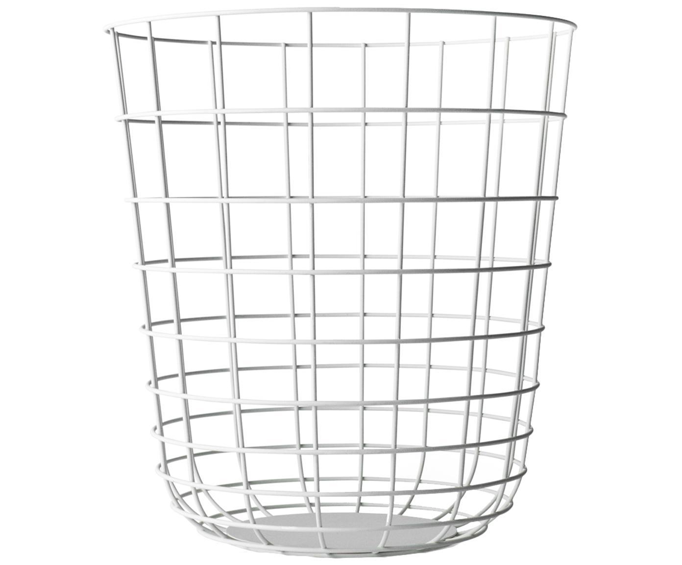 Papierkorb Wire Bin, Korb: Stahl, Weiß, Ø 32 x H 35 cm