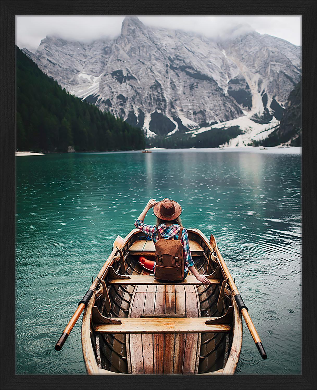 Stampa digitale incorniciata Sailing, Immagine: stampa digitale su carta,, Cornice: legno verniciato, Multicolore, Larg. 43 x Alt. 53 cm