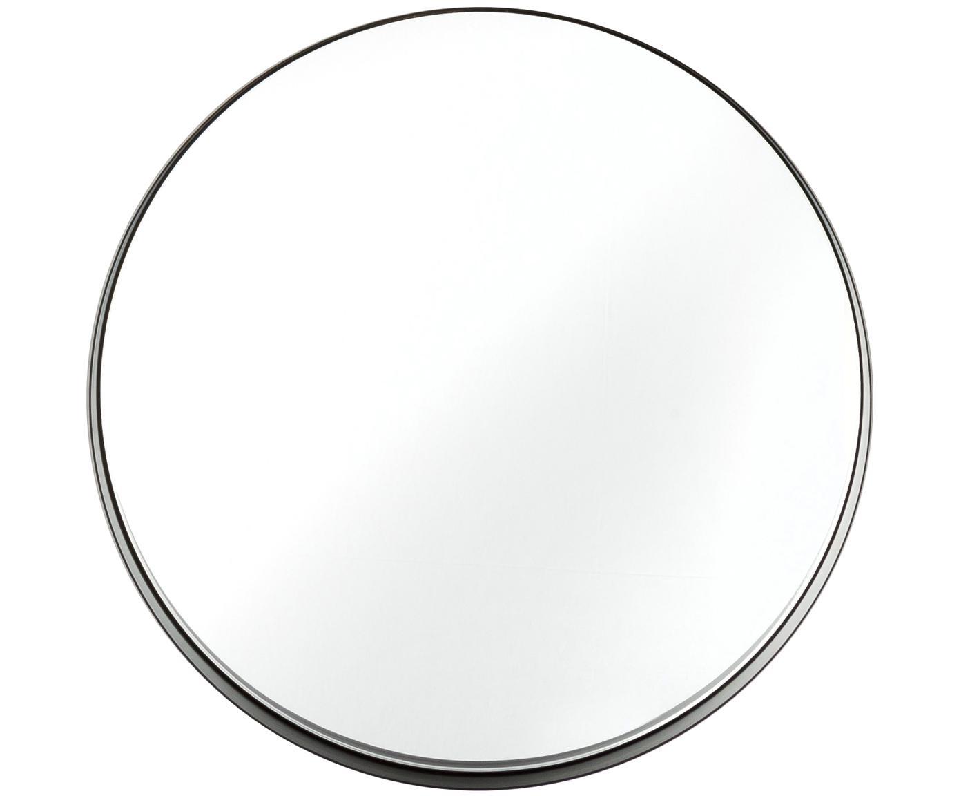 Lustro ścienne Metal, Rama: czarny Szkło lustrzane, Ø 43 cm